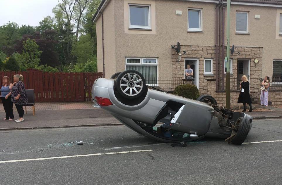 The crash on Harestane Road.