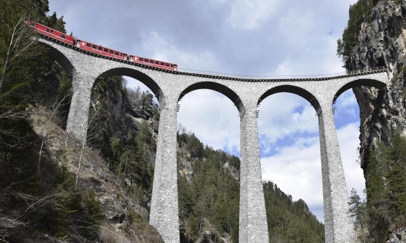 Bernina Express Railway.