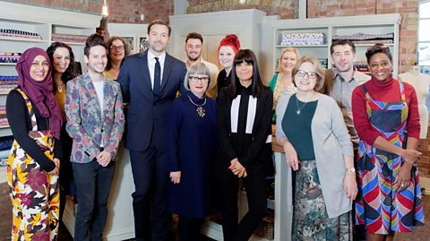 Patrick and the team from The Great British Sewing Bee