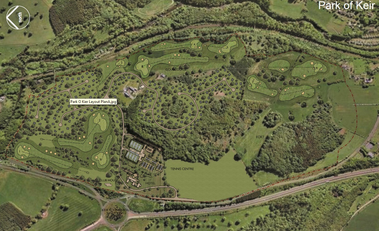 The proposed site for the Park of Keir development.