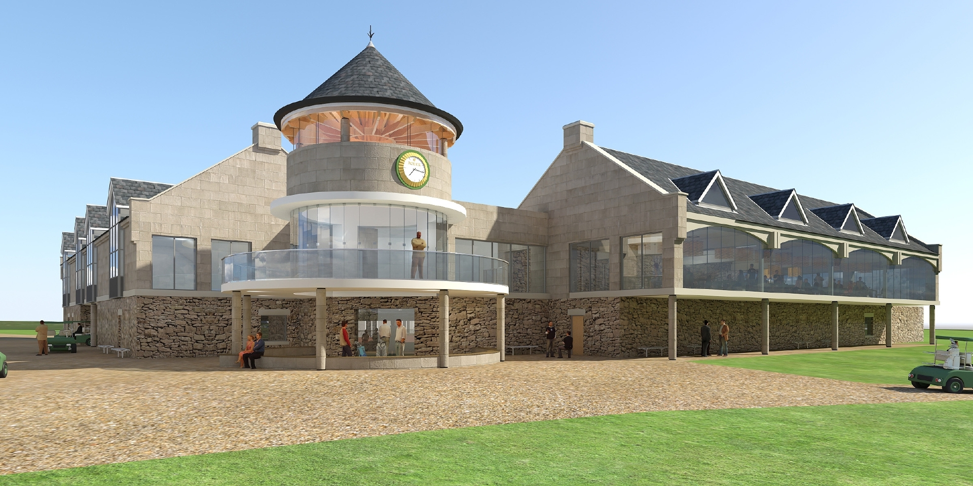 An artist's impressions of the extended golf links centre.