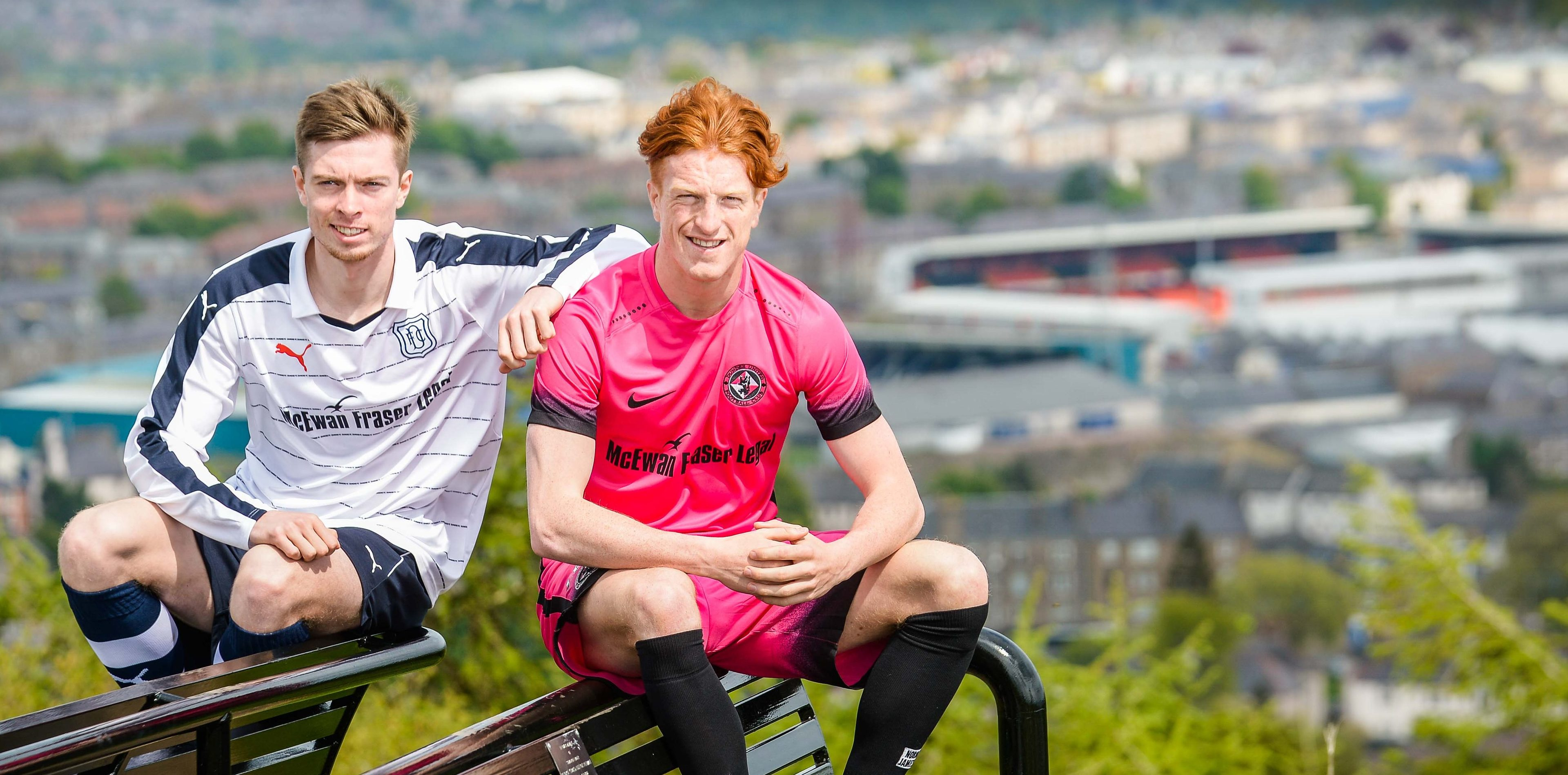 Simon Murray (right) with Dundee's Craig Wighton.