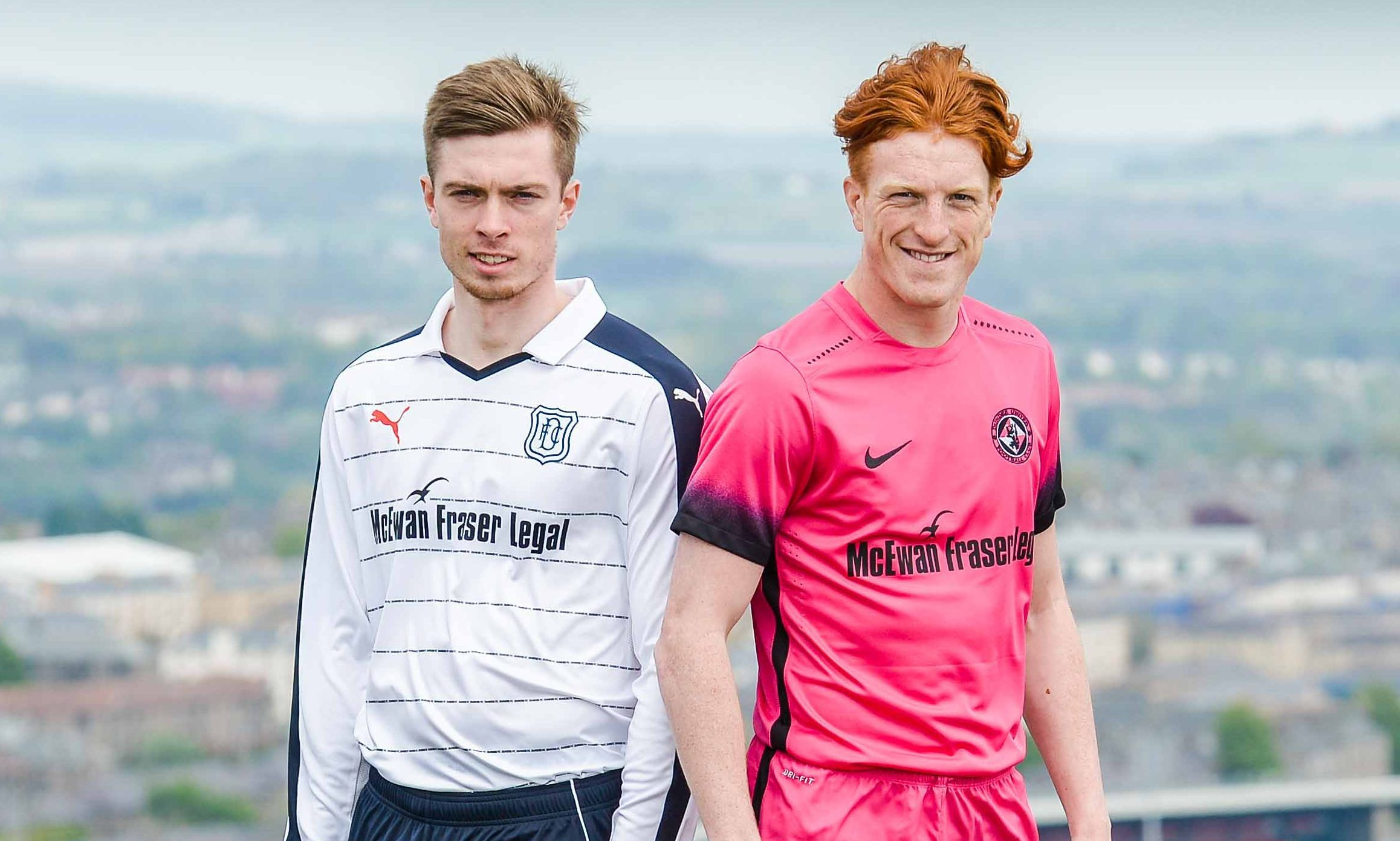 Craig Wighton left) with United's Simon Murray earlier this week at the launch of a sponsorship deal between the two clubs with legal firm McEwan Fraser Legal.