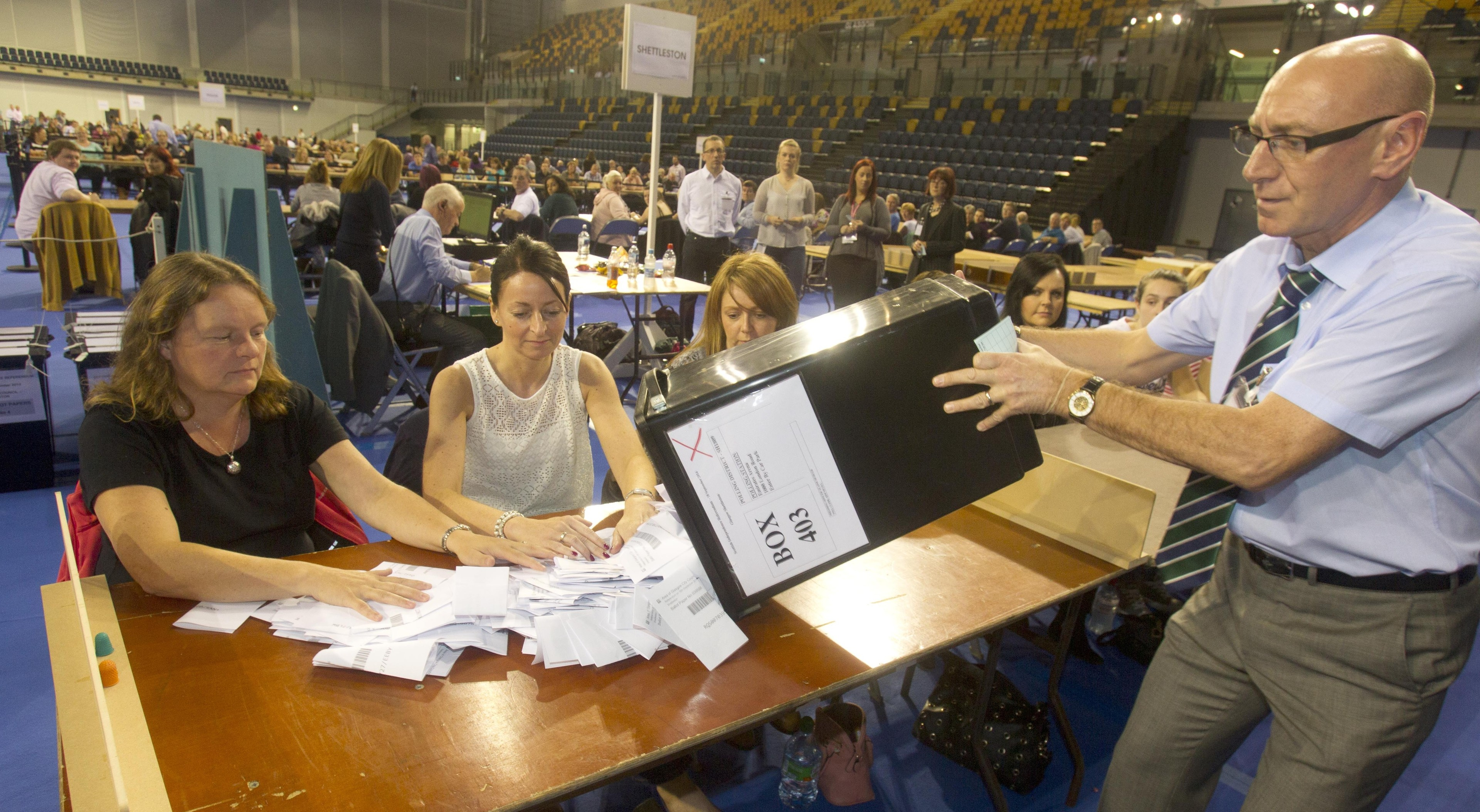 Polling clerks have claimed age discrimination means they will not be involved during the election on Thursday.