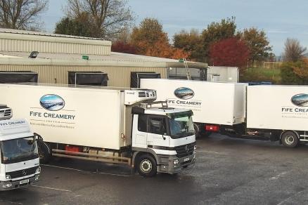 Fife Creamery's vehicles.