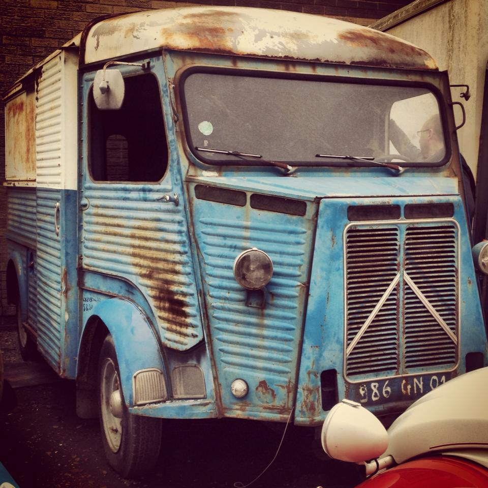 The Citroen H van, later named Fleur, as she was before rsestoration
