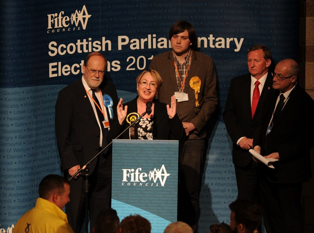 Cowdenbeath & Dunfermline count at the Rothes Halls 5 May 16 Annabelle Ewing wins the Cowdenbeath seat from Alex Rowley