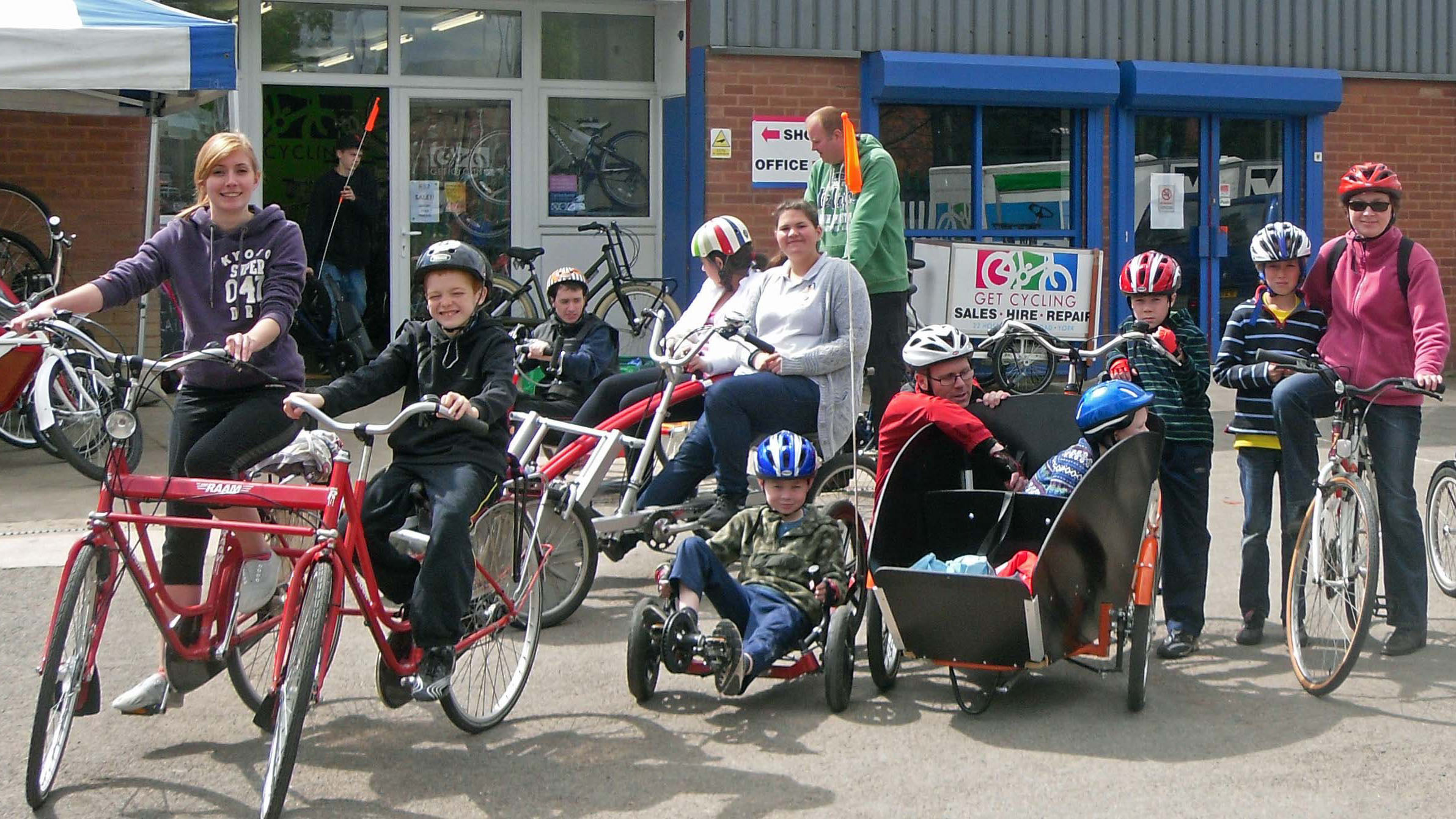 Primary school children at Arbroath will have the opportunity to use a range of bycyles.