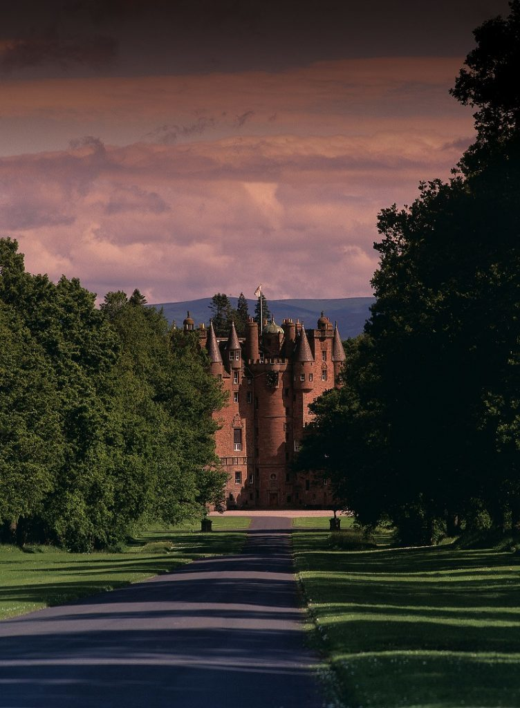 Glamis Castle down drive