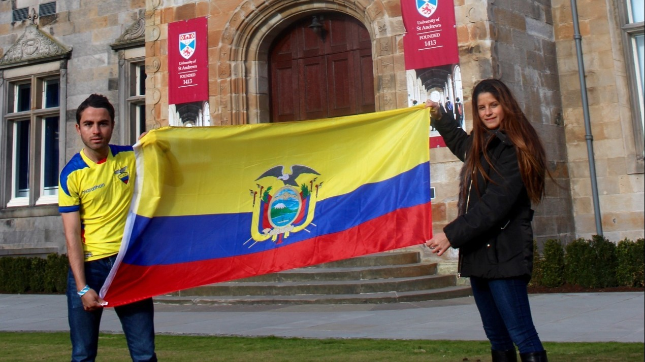 Gonzalo Leon and Maria Barragan are among those rallying support for earthquake victims in their homeland.