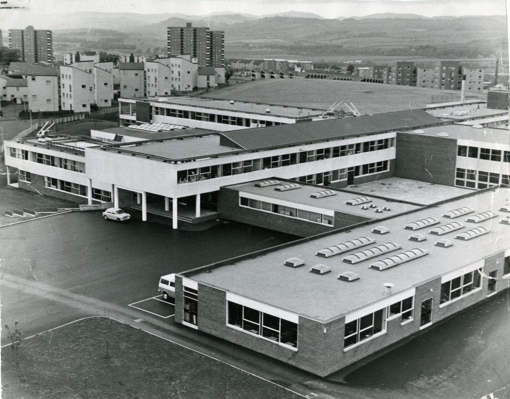 A 1972 photo of the then new Menzieshill High School.