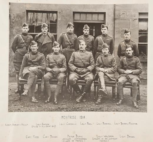 Harvey Kelly with No 2 Squadron, pictured top left