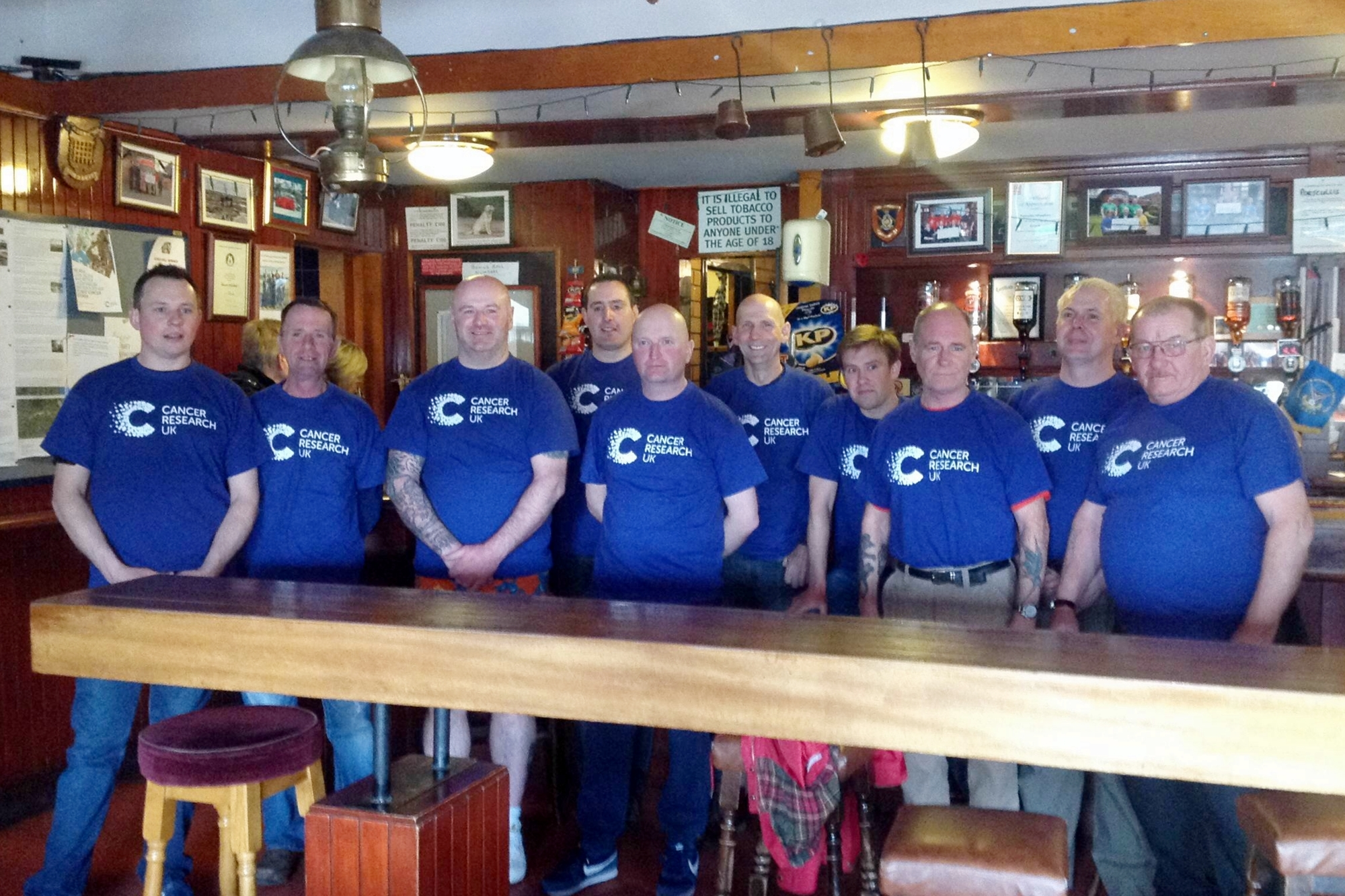 Some of the Portcullis walkers in the pub before they travelled down to Carlisle for the Hadrian's Wall walk.