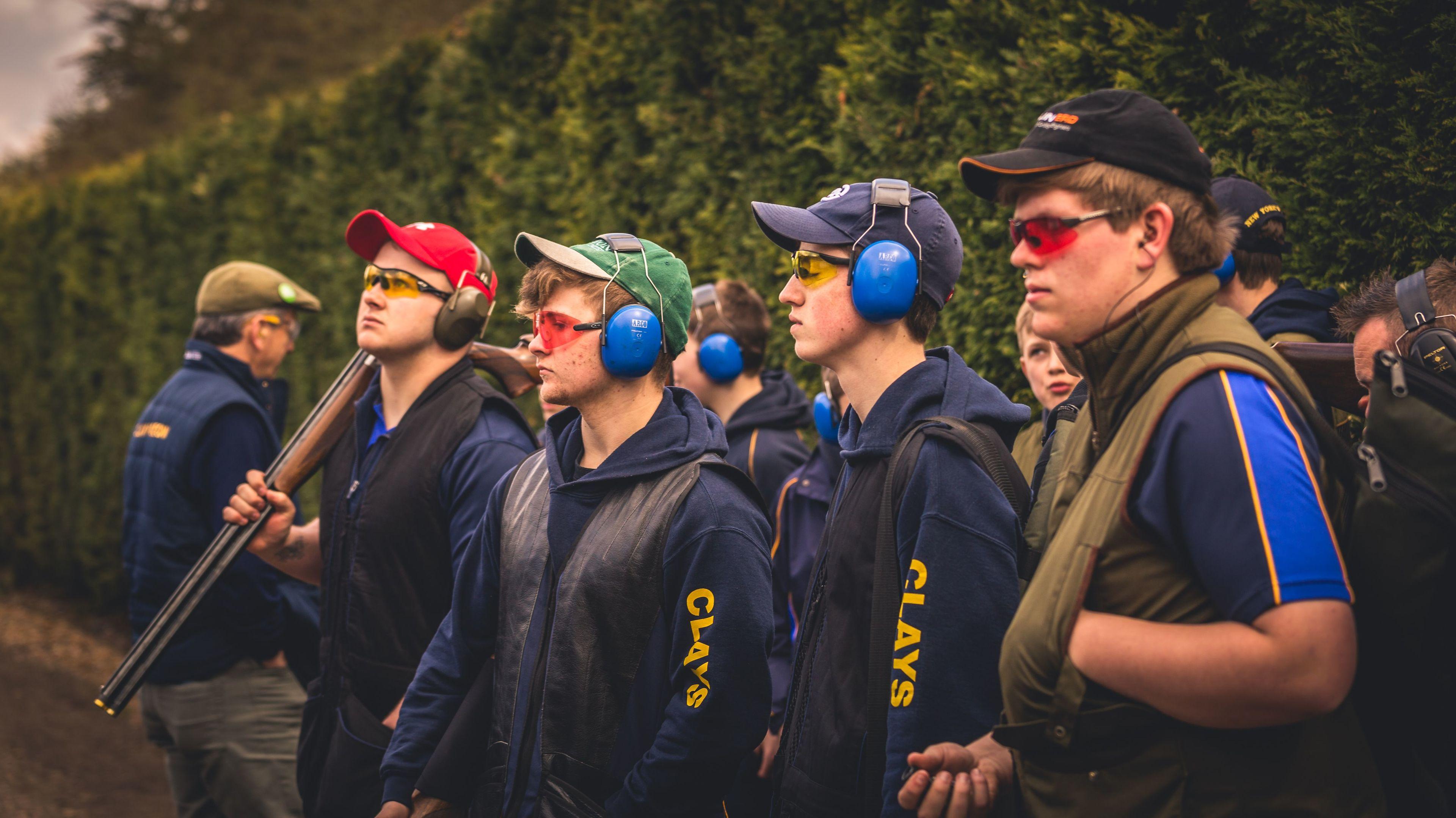 L-R: Strathallan shooters Keir Hail-Brown, Ben Addison-Scott, Rory Morrison-Low, James Day