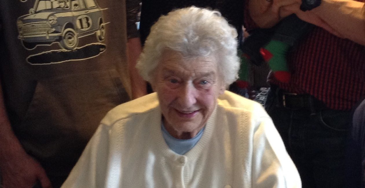 Thieves stole in the region of £10,000 from Isabella Robertson, seen here on her 90th birthday.