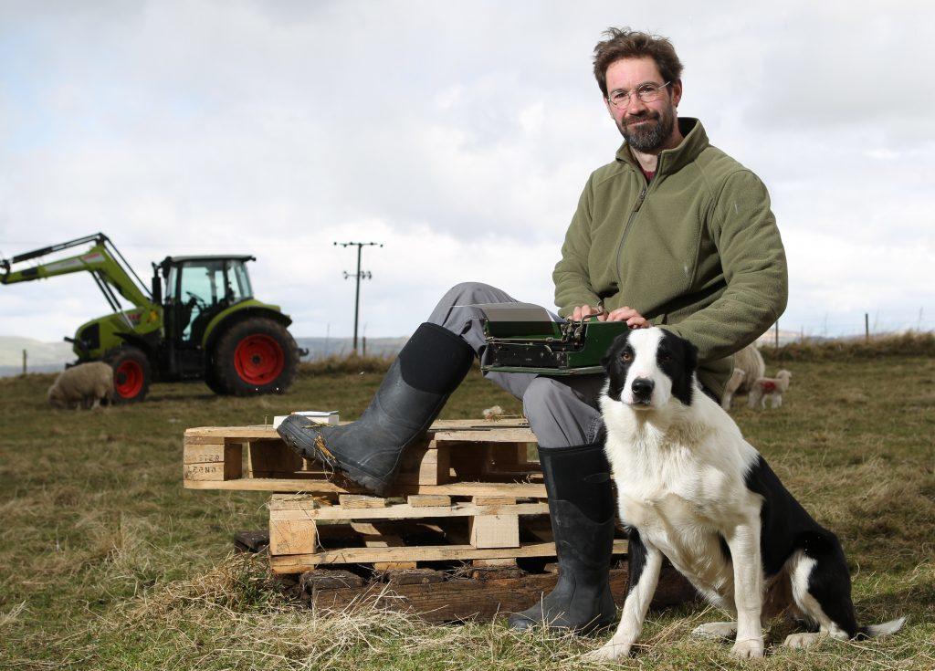 James Oswald on the farm