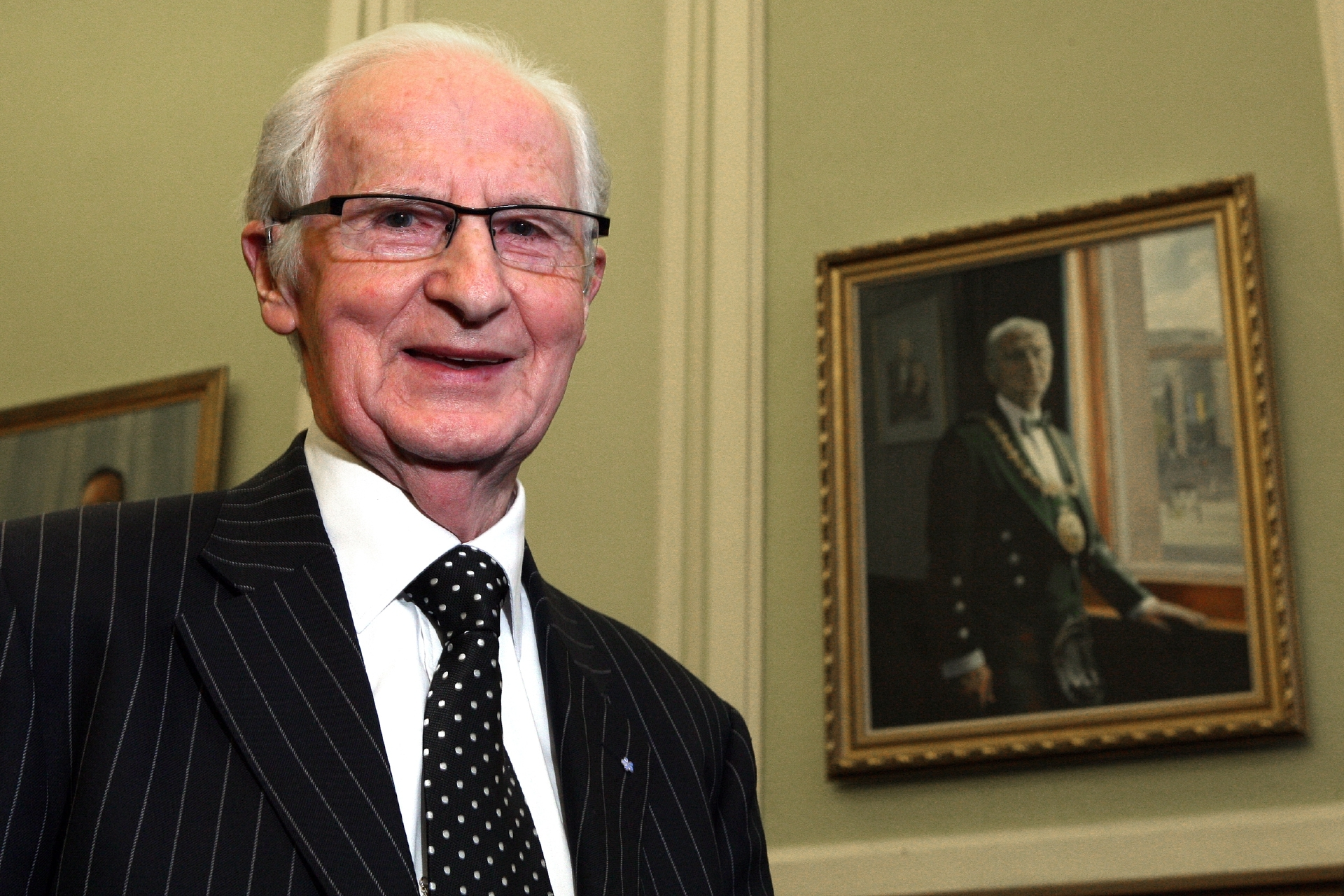 John Letford pictured at City Chambers at the unveiling of his civic portrait.