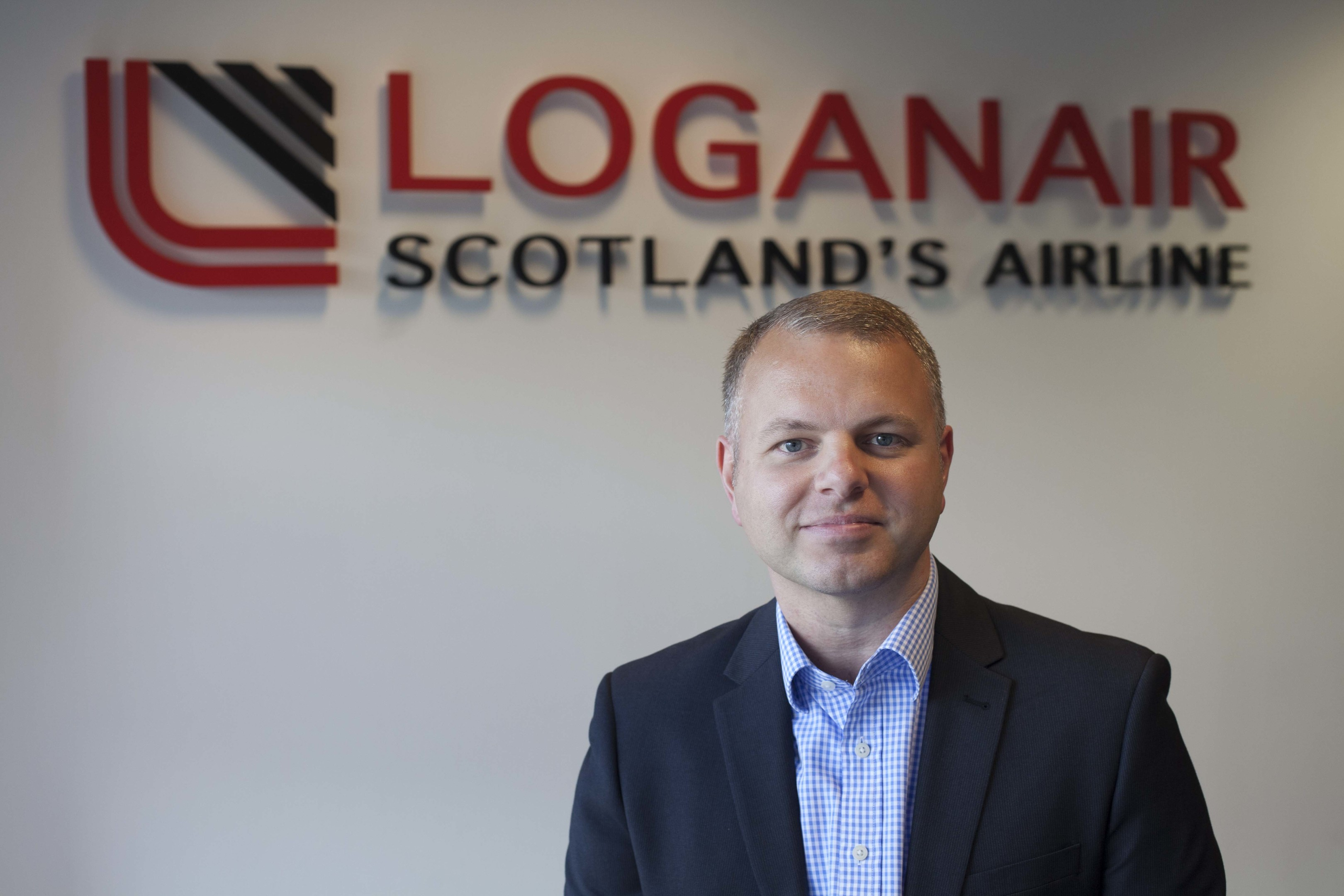 Loganair's new MD, Jonathan Hinkles.  Picture by Chris James   12/5/16