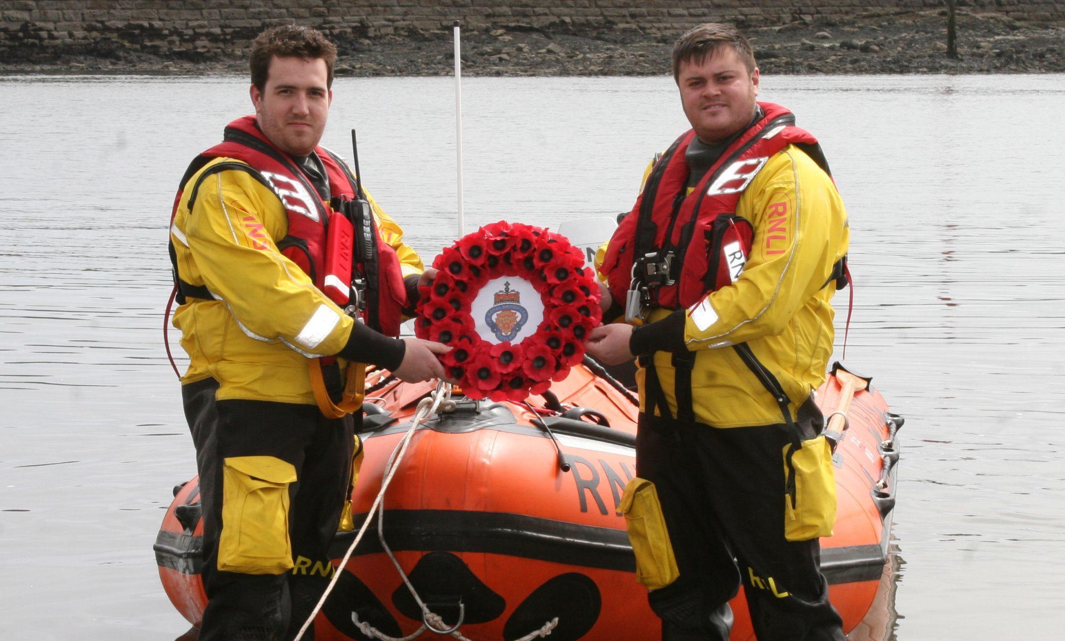 Arbroath RNLI crewmen Michael Marr and Jamie Robertson.