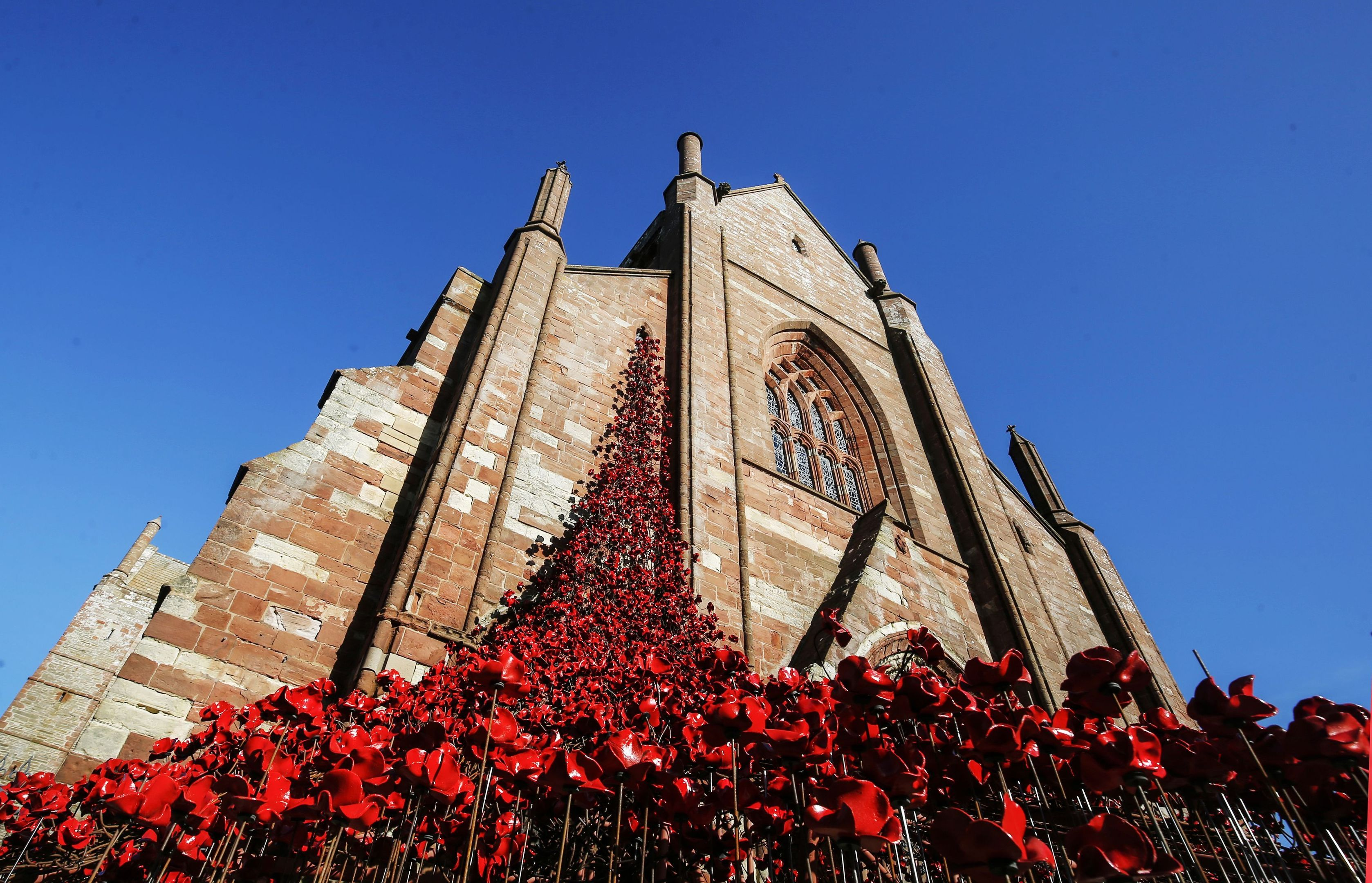 The Weeping Window sculpture in Orkney.