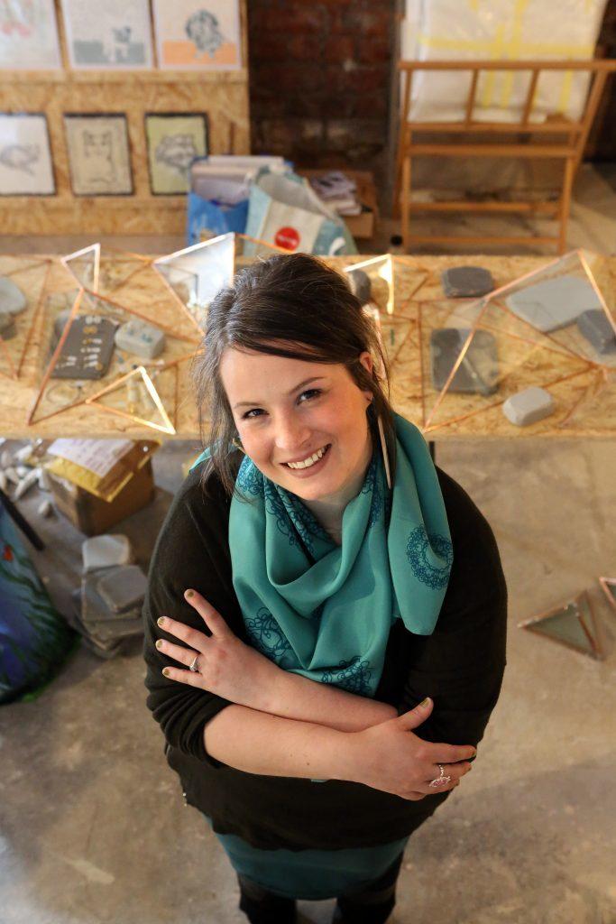 Joanne MacFadyen of Tea Green is shocased at Dundee Design Festiva