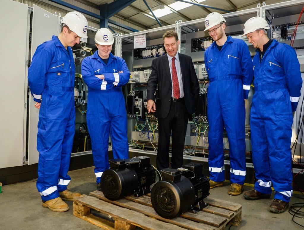 Murdo Fraser tours DPS group and meets apprentices at their headquarters in Glenrothes.