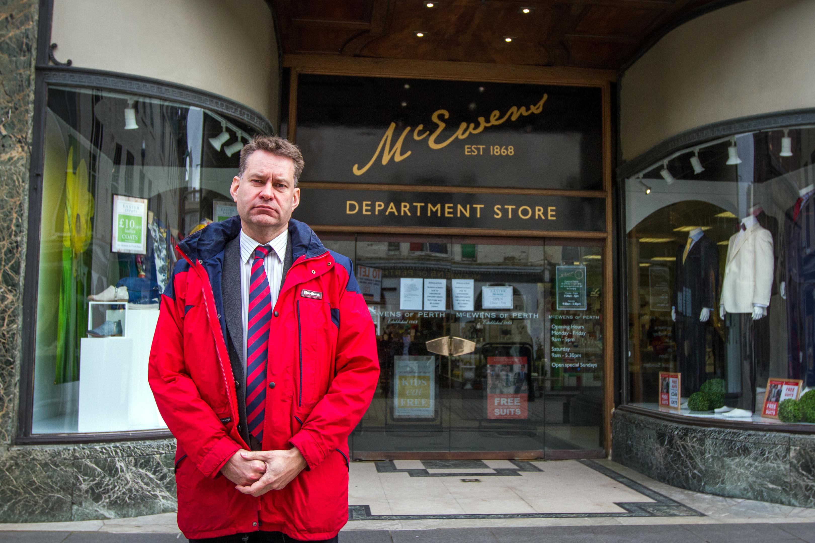 Murdo Fraser MSP at McEwens of Perth.