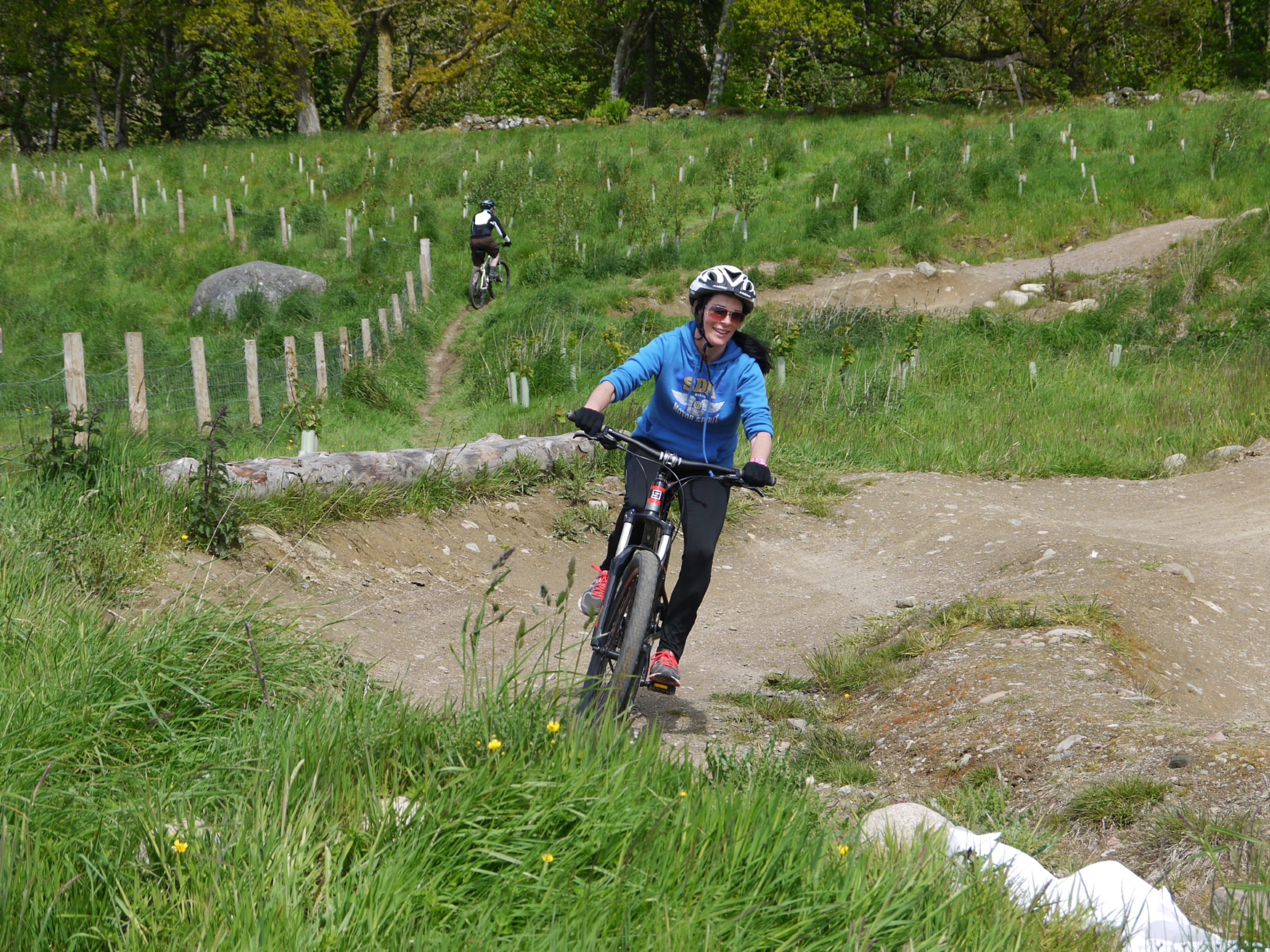 Gayle takes on one of the less challenging trails at Comrie Croft ahead of Cream o' the Croft festival.