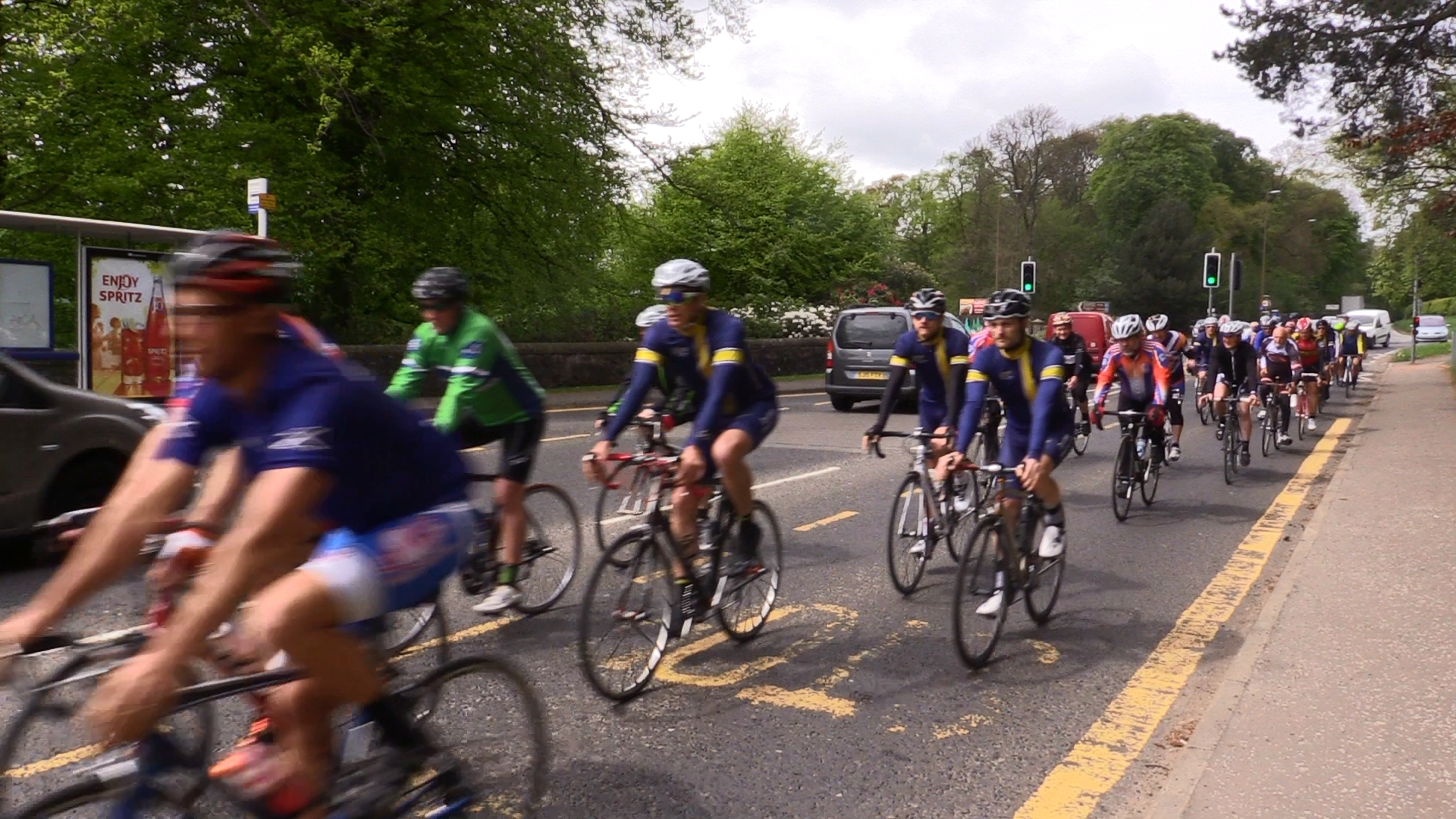 The riders leaving from Camperdown Park.