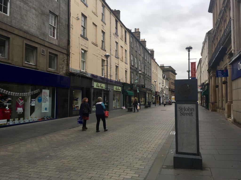 The pedestrianised St John Street in Perth.