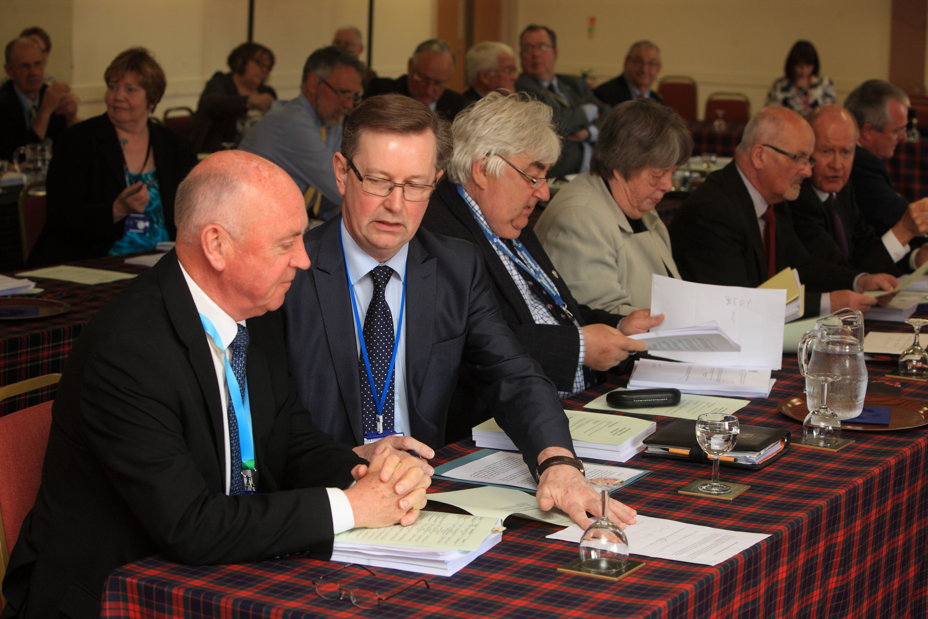 Mac Roberts (left) and Alexander Stewart at the meeting.