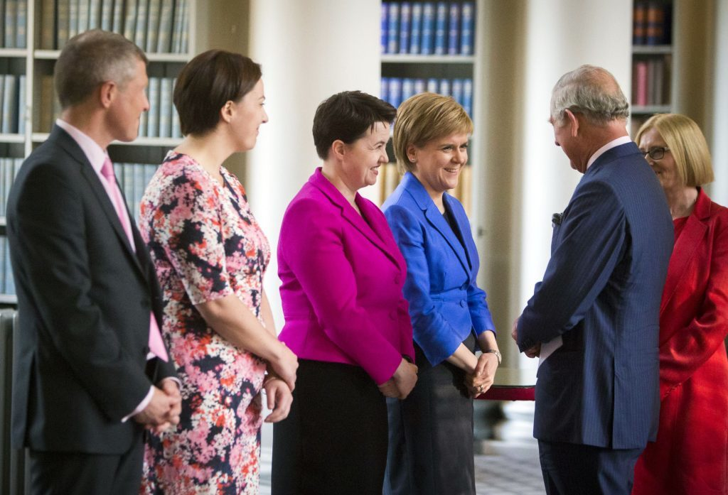 The Prince of Wales  meets the Holyrood party leaders