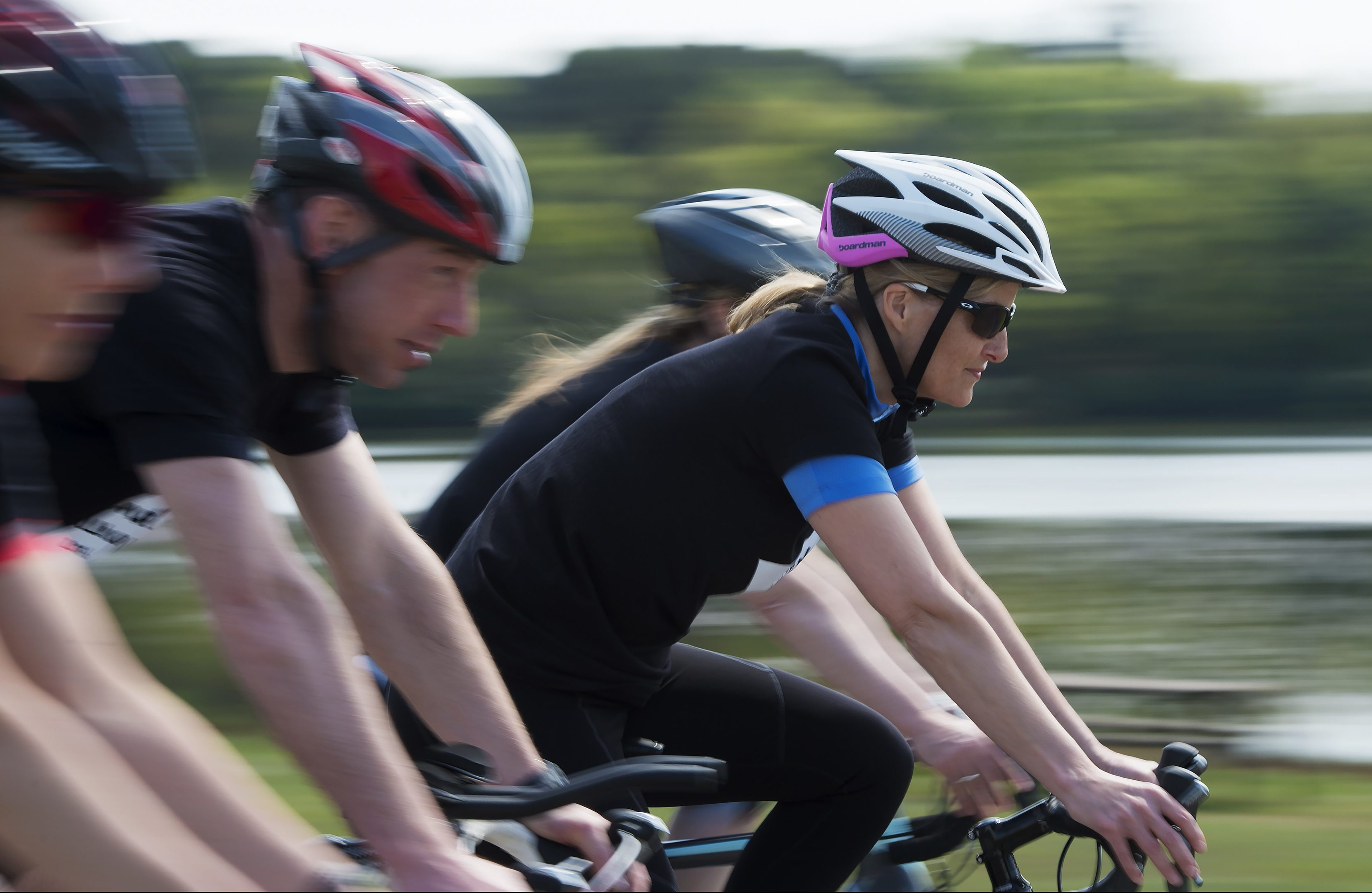 The Countess of Wessex trains ahead of her cycling 445 miles in September.