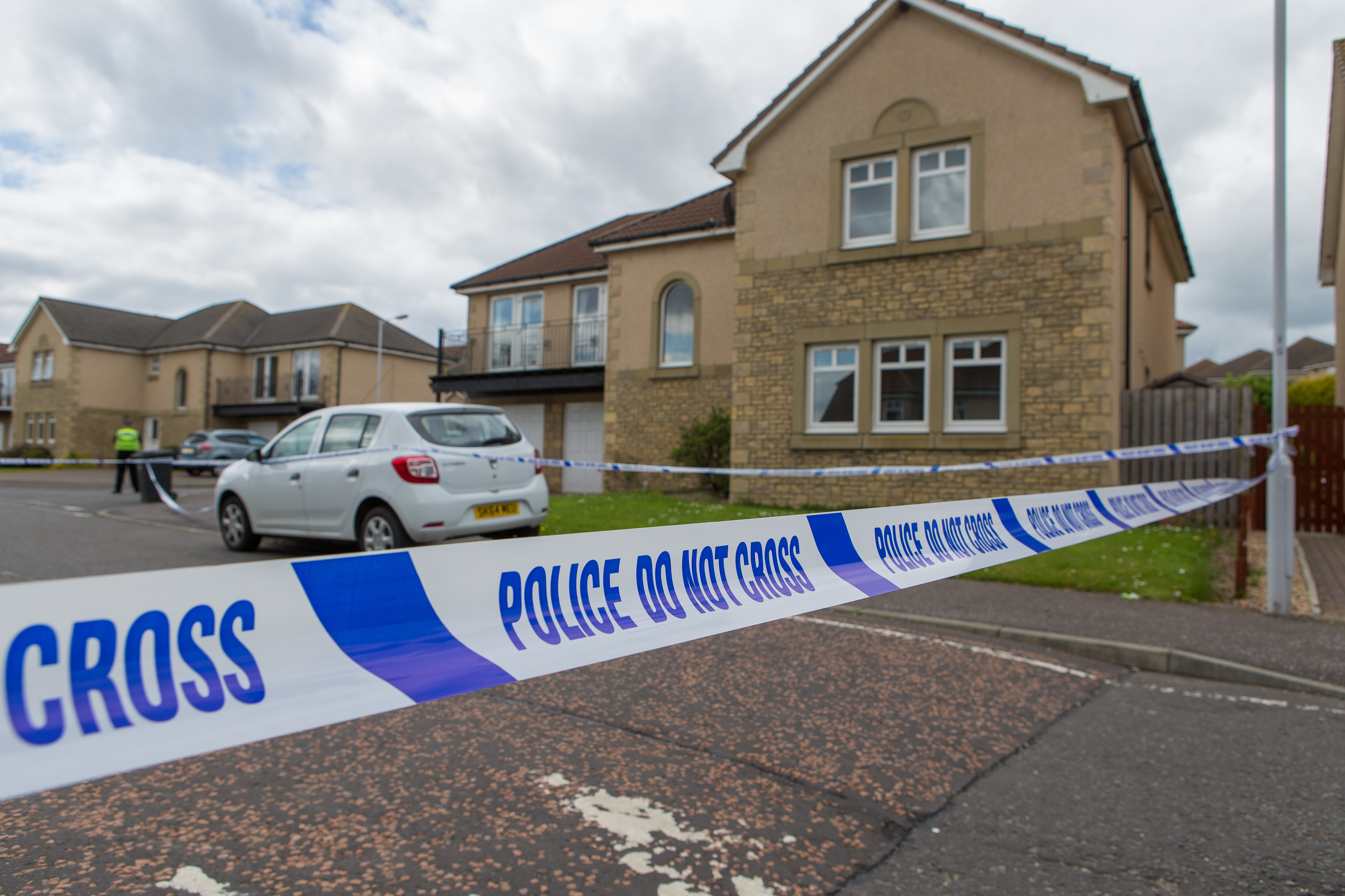 Police cordoned off the honme on Craigfoot Road  after the incident.