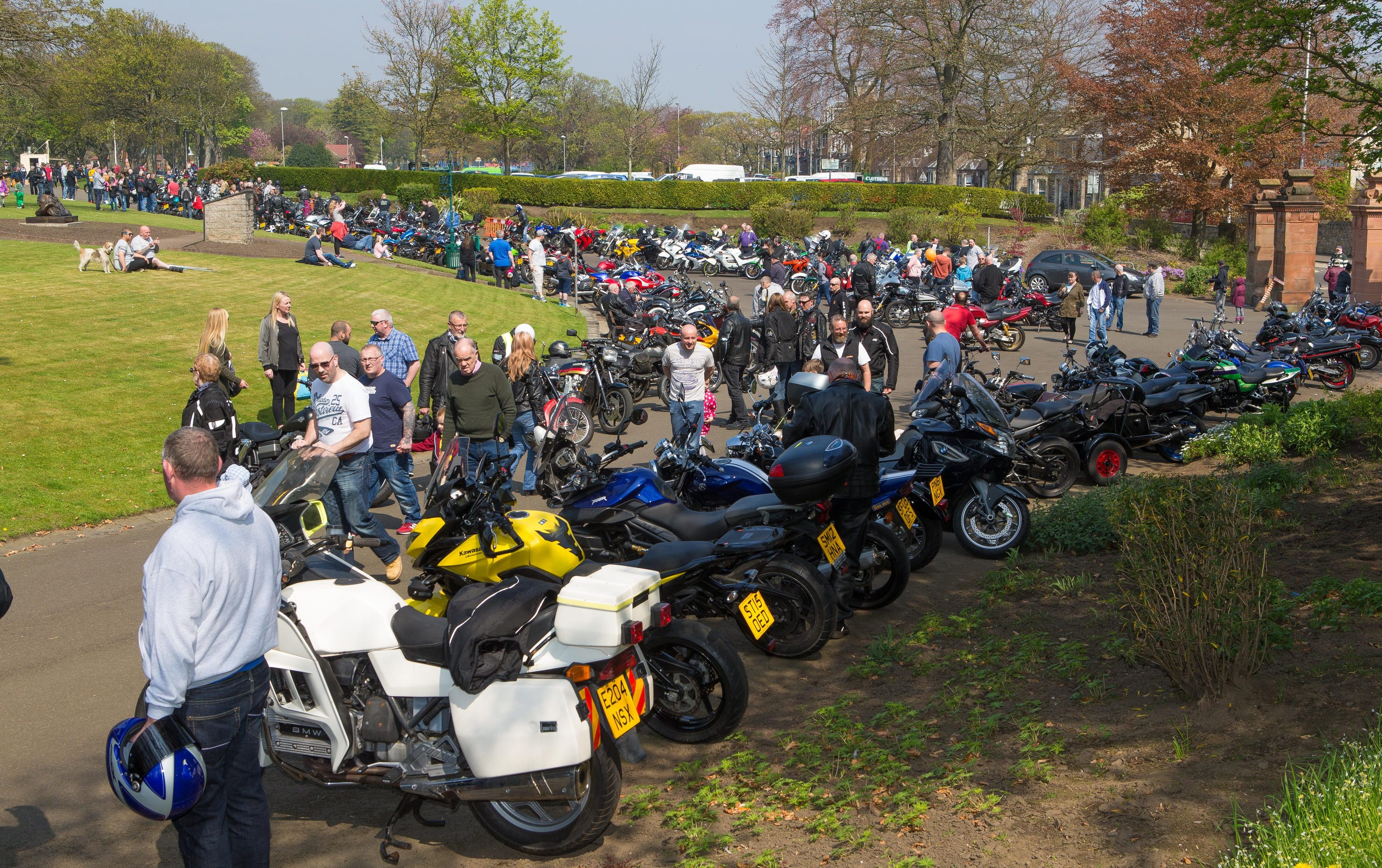 Kirkcaldy Motorbike Club holds in annual show at Beveridge Park.