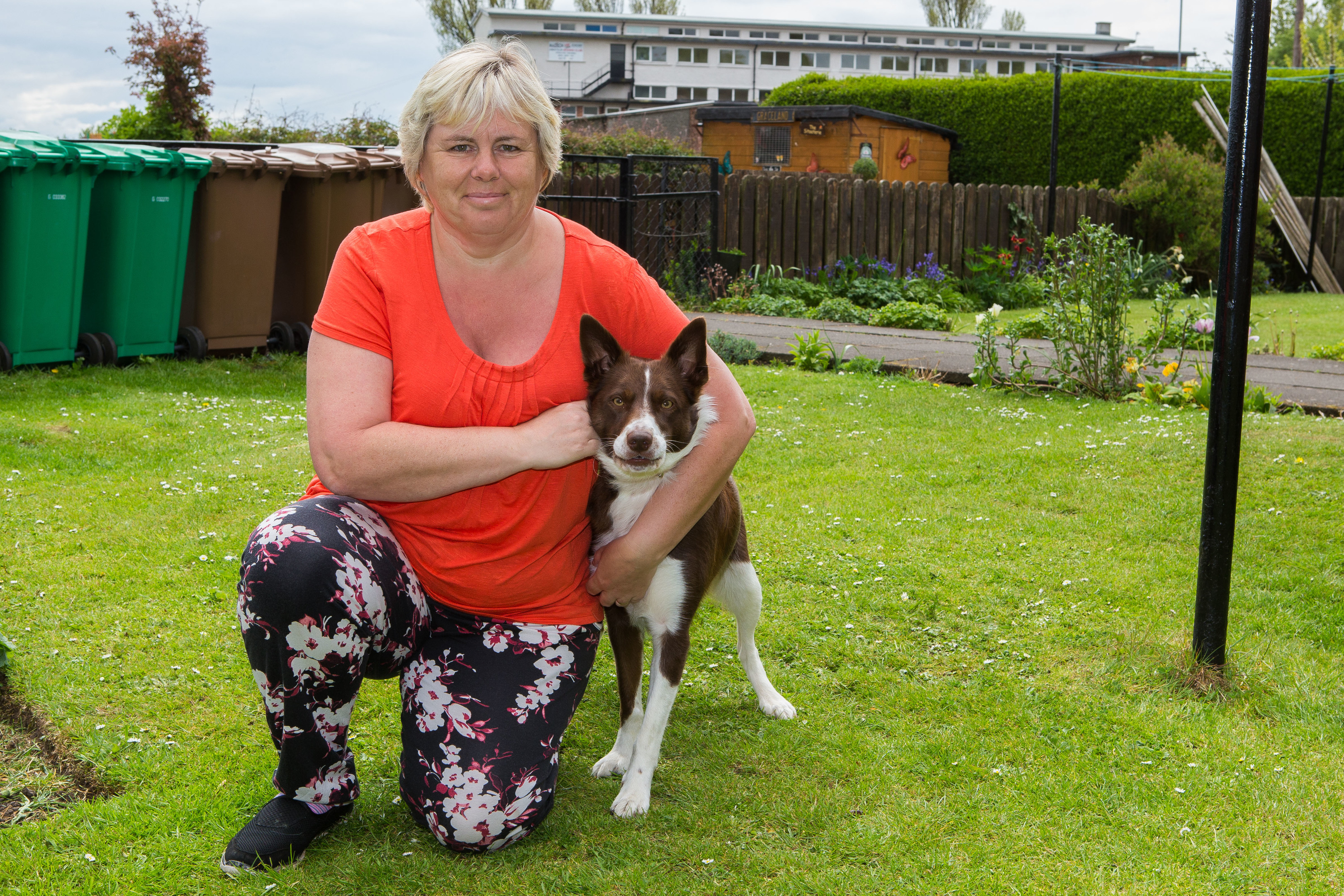 Lorraine Turner with her dog Willow.
