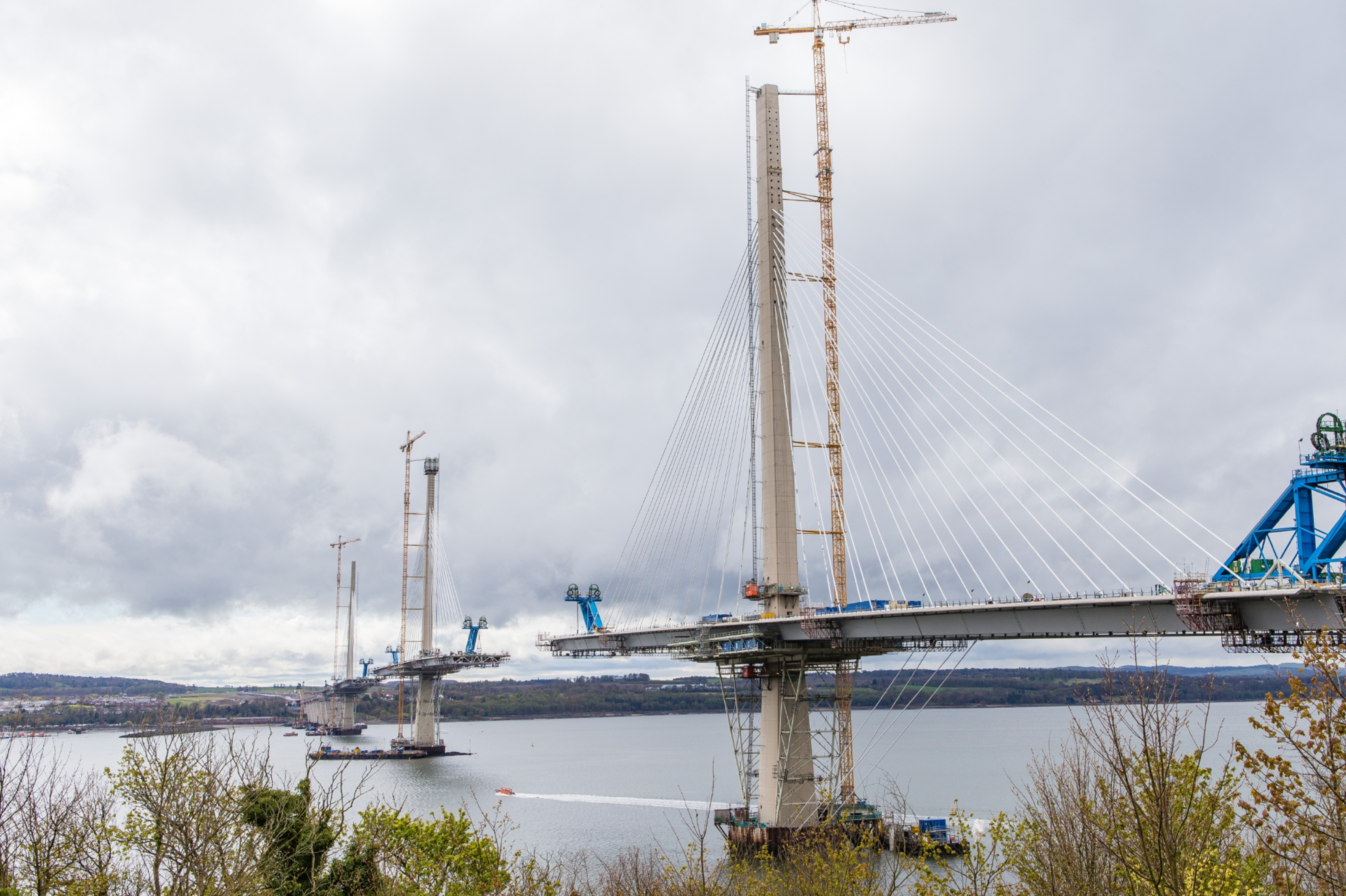North tower of the Queensferry Crossing where the fatal accident occurred