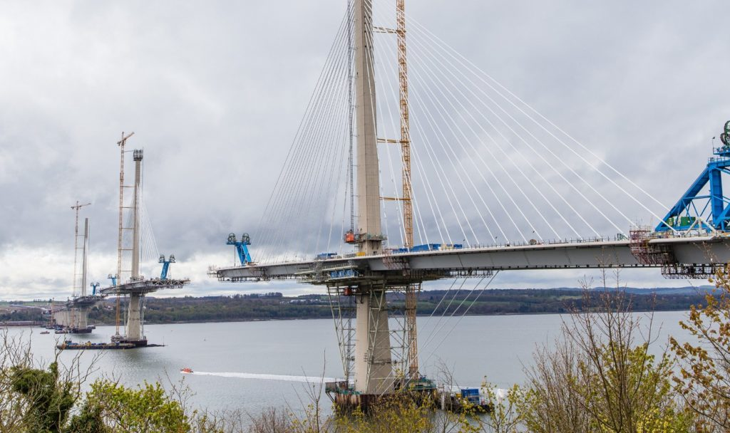 North Tower at the Queensferry Crossing Bridge