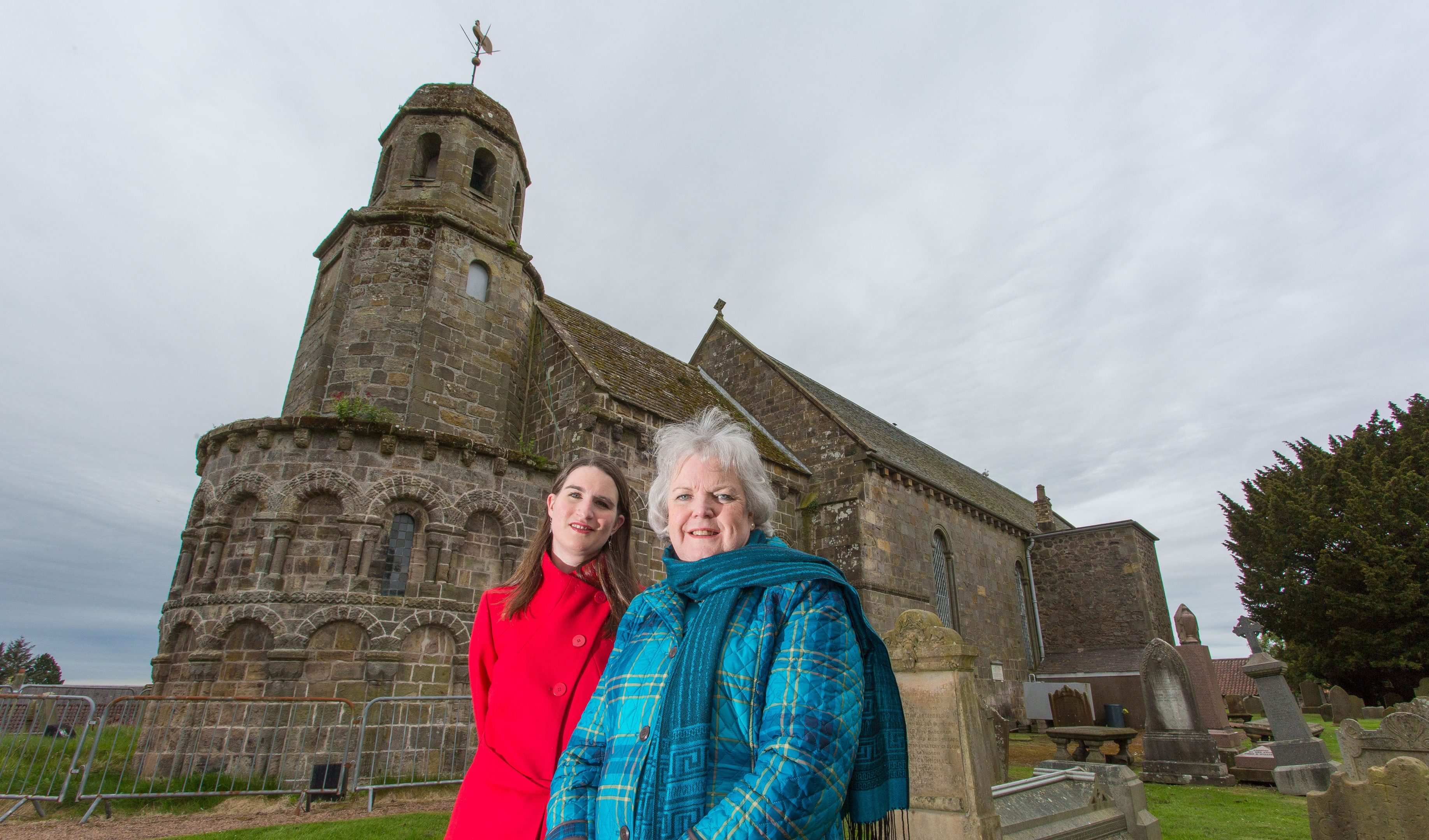 Paula Anderson, development manager, and Carol Petrie, project team manager outside the church.