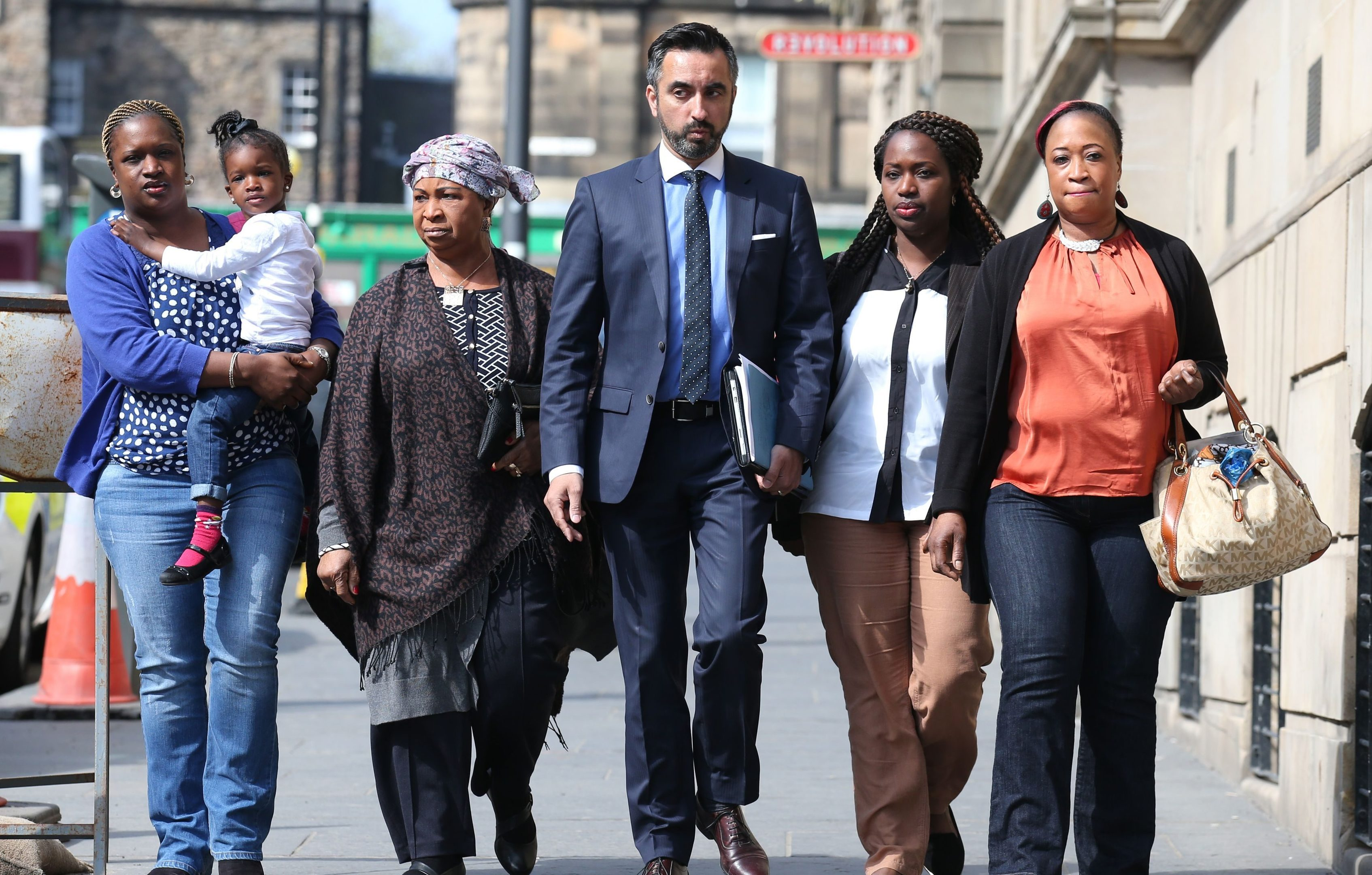 Solicitor Aamer Anwar, Sheku Bayoh's mother Aminata and other family members previously met Lord Advocate Frank Mulholland QC.