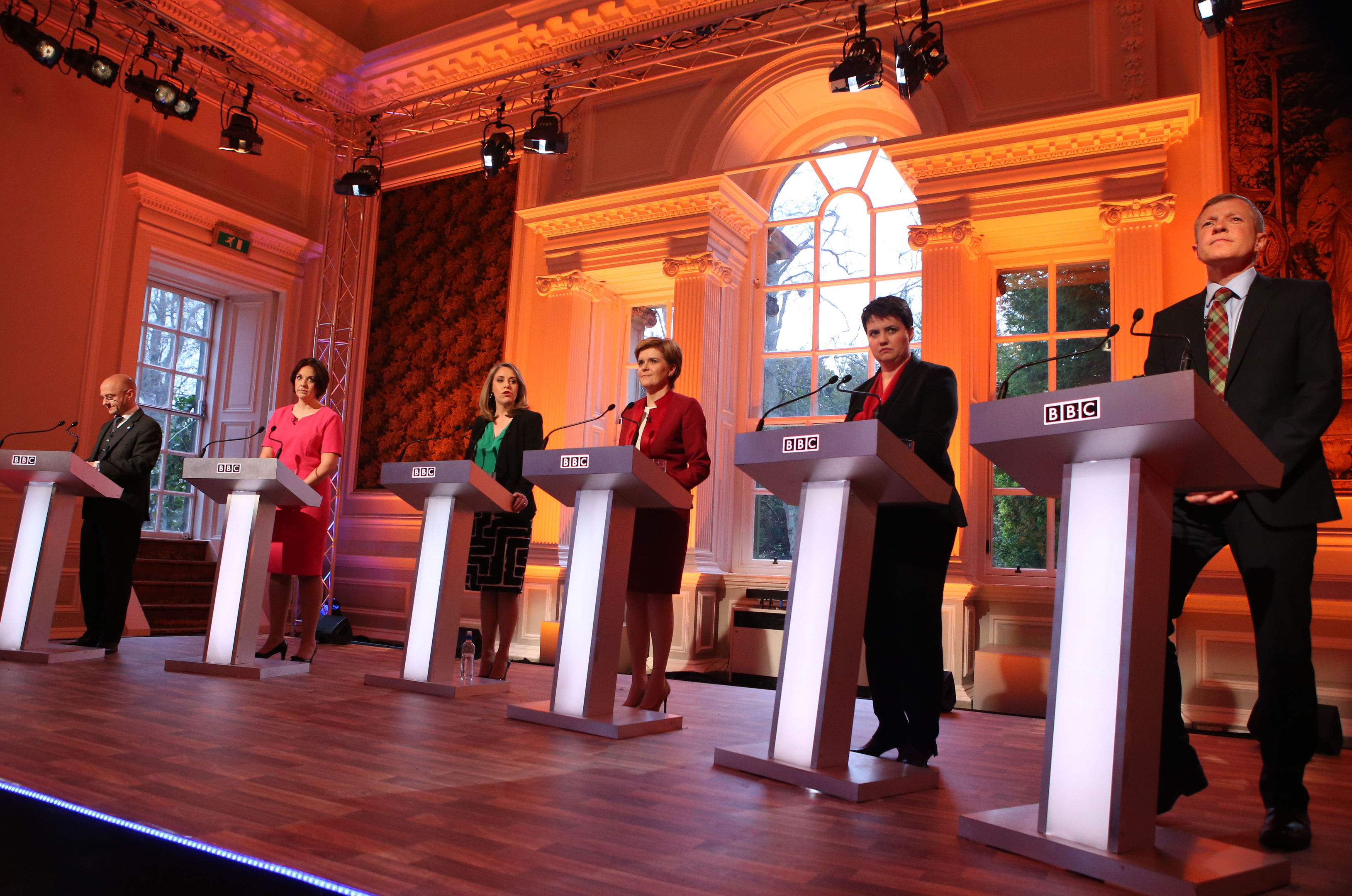 The BBC Leaders Debate at Hopetoun House in Queensferry.