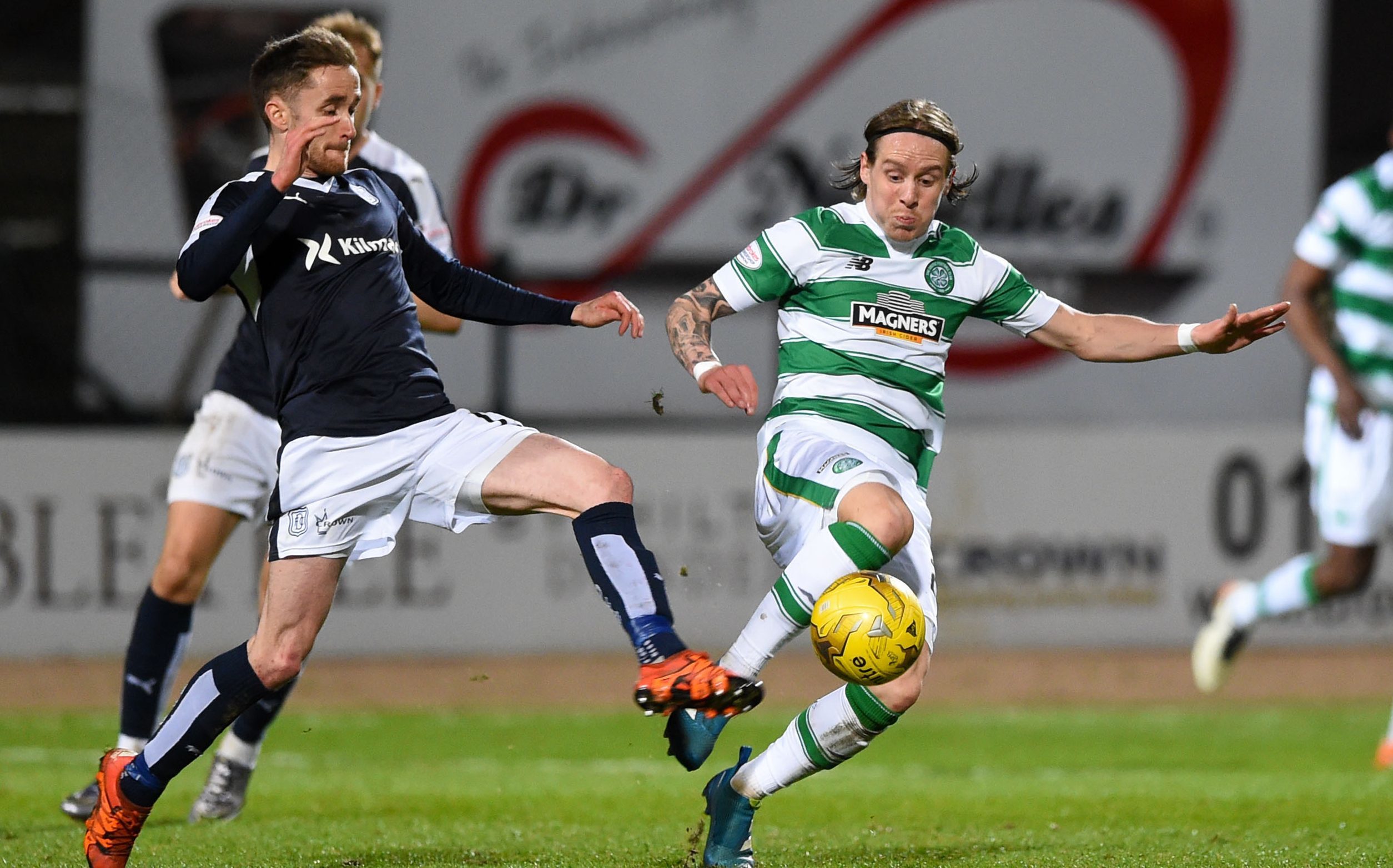 Action from the last game between Dundee and Celtic.