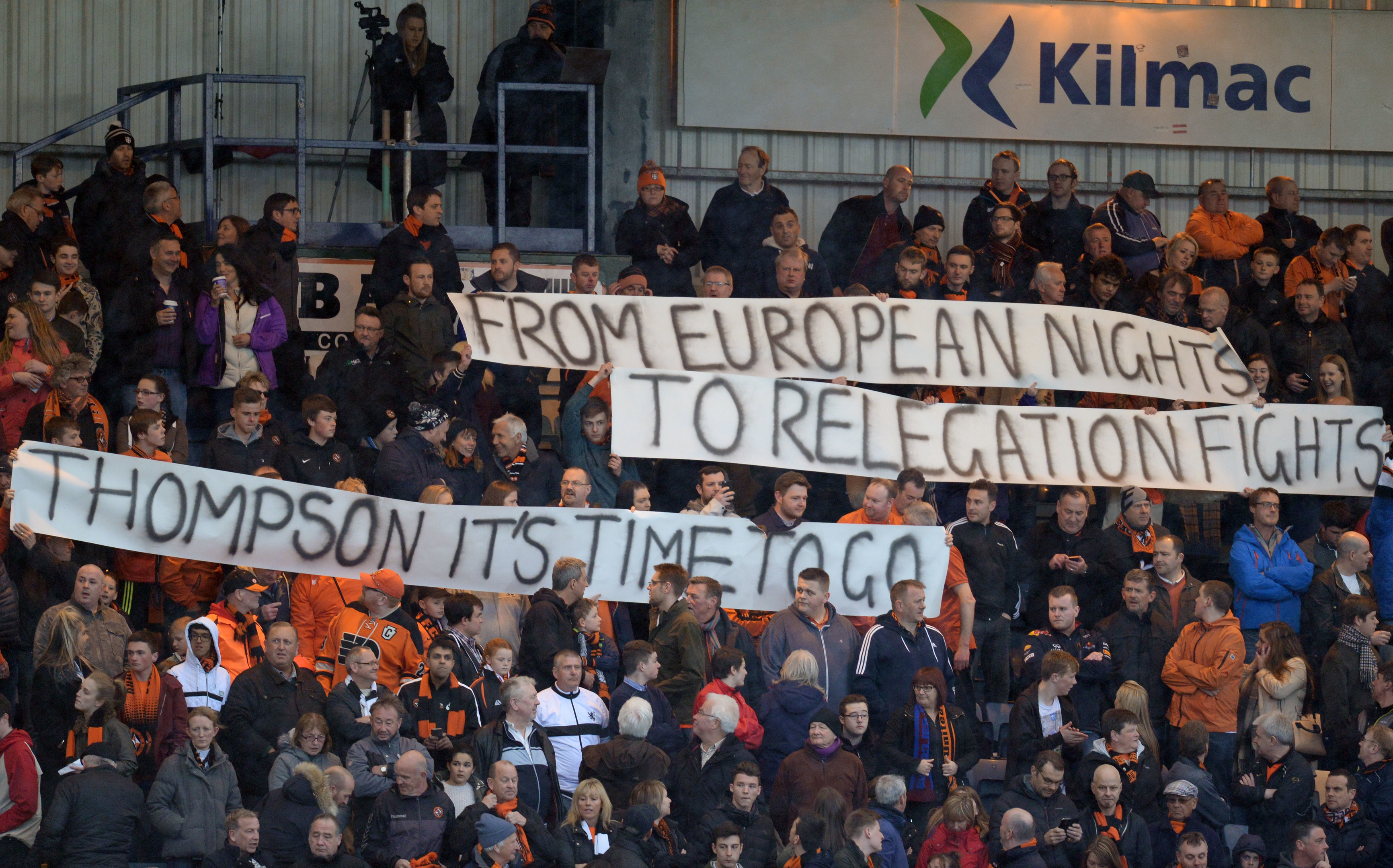 A defiant message to Dundee United chairman Stephen Thompson.