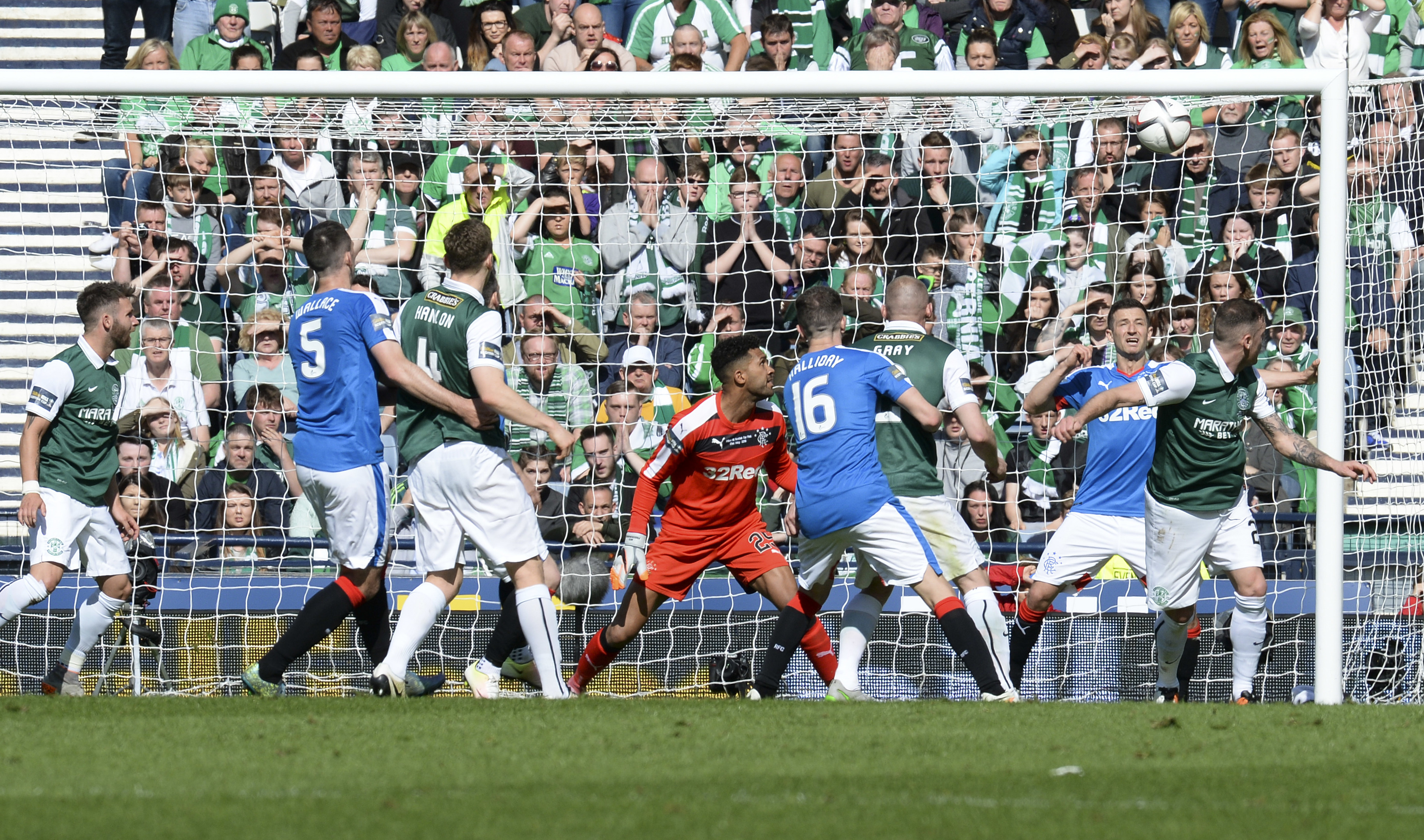 Anthony Stokes scores his side's second goal.