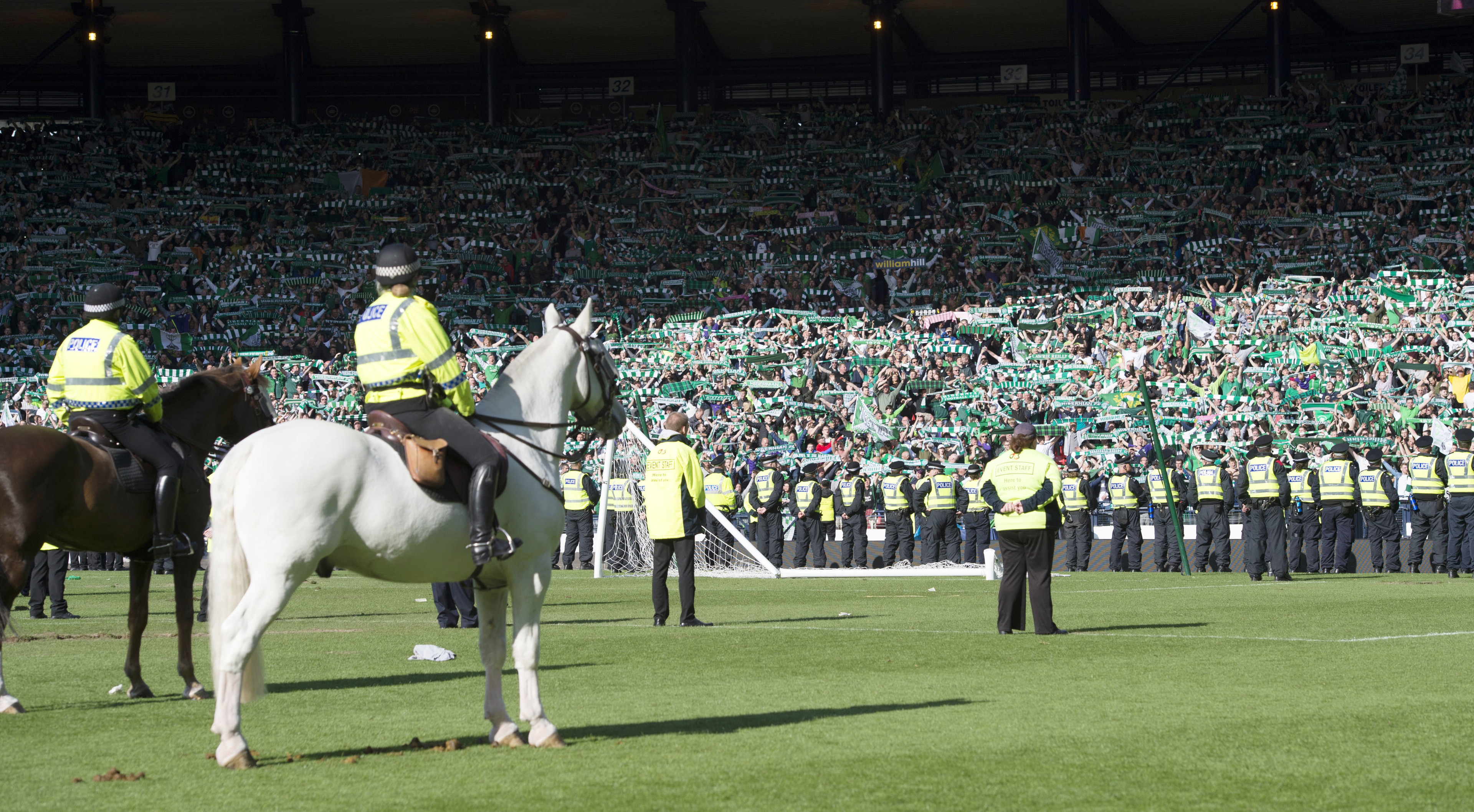 The scene at Hampden after the final whistle.