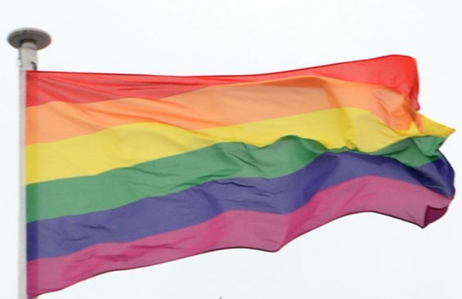 Aberdeenshire Council flew the rainbow flag at a number of sites across the county.