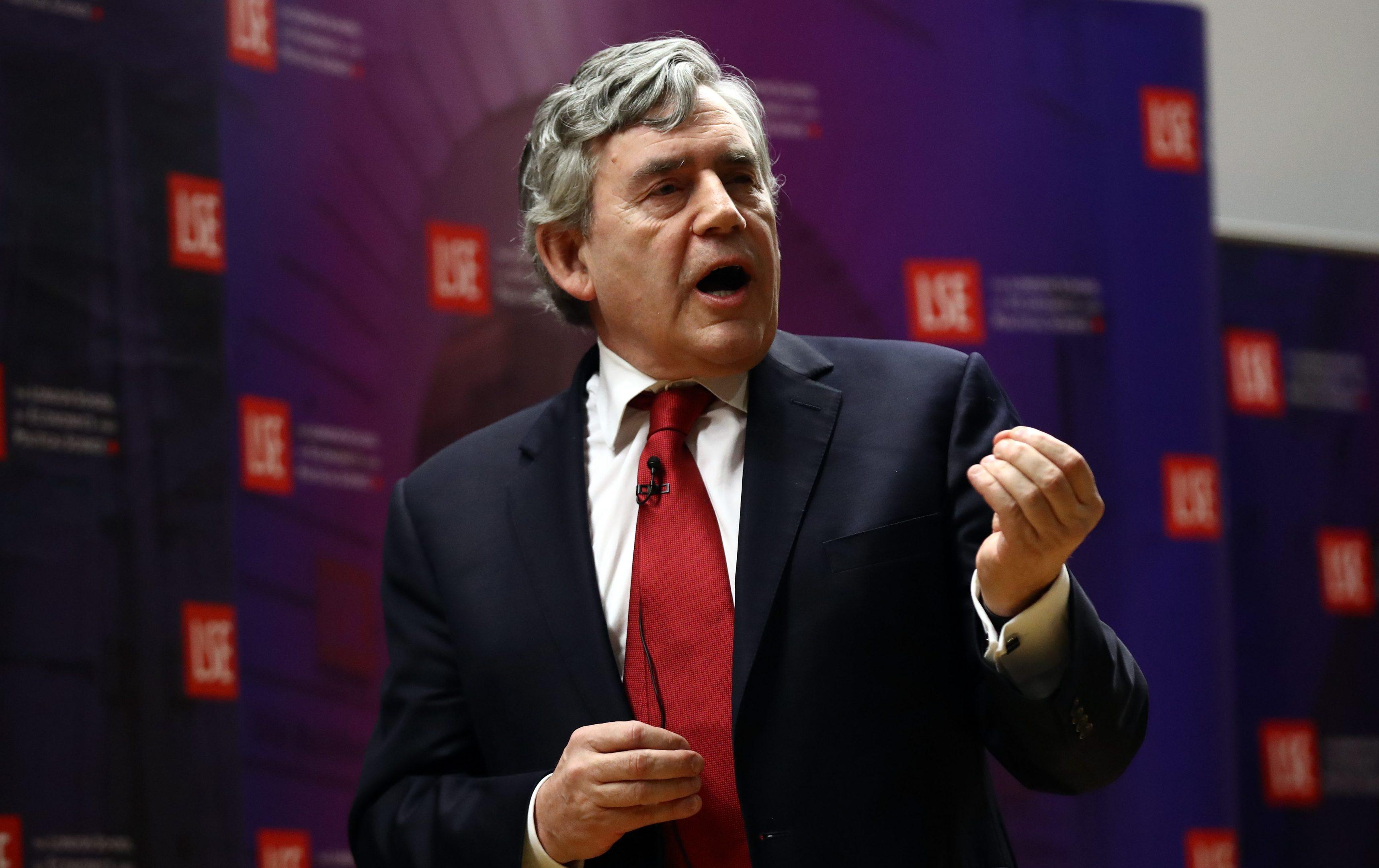 Gordon Brown.