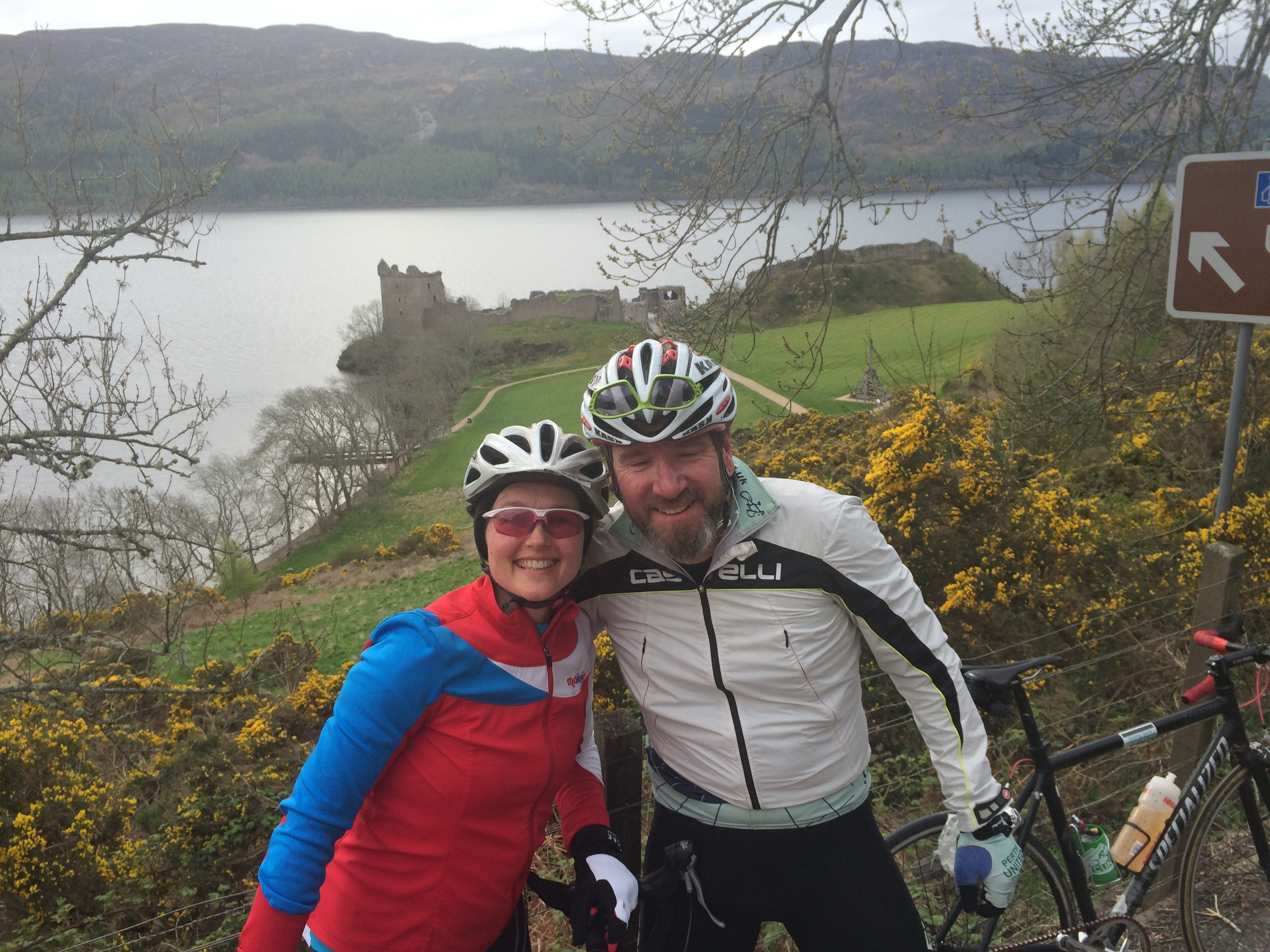 Scot and wife Kirsteen at Urquhart Castle near Drumnadrochit