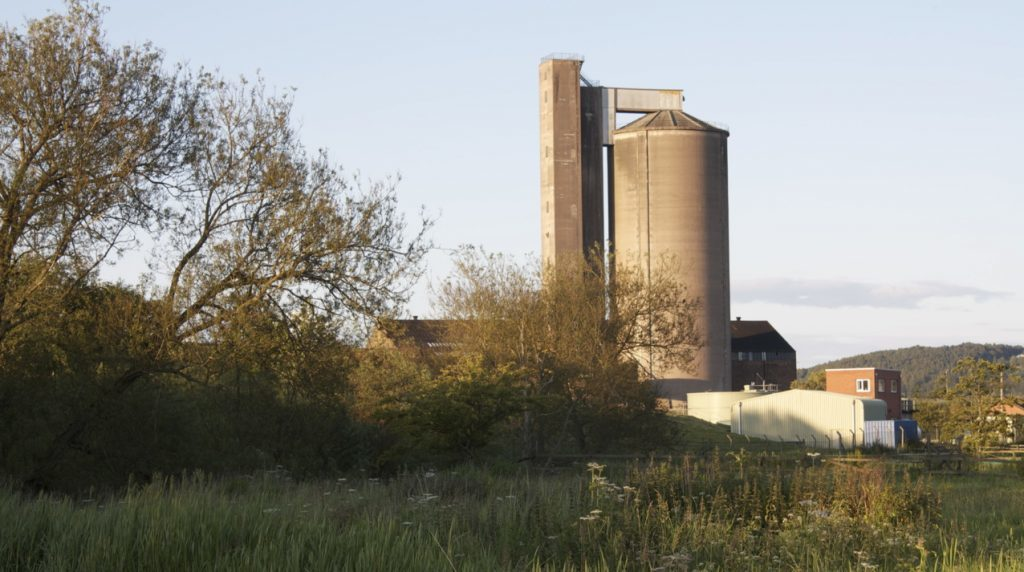 The silo at the former Sugar Beet Factory in Cupar