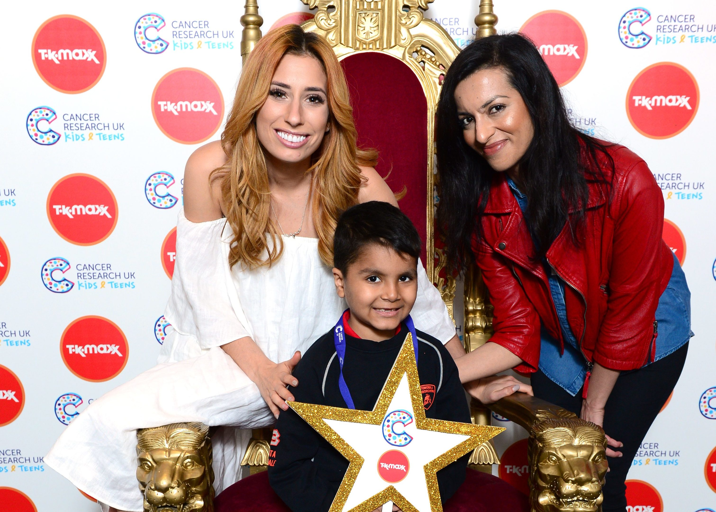 Stacey Solomon with Danyal-Mirza and his-mum Sobia.